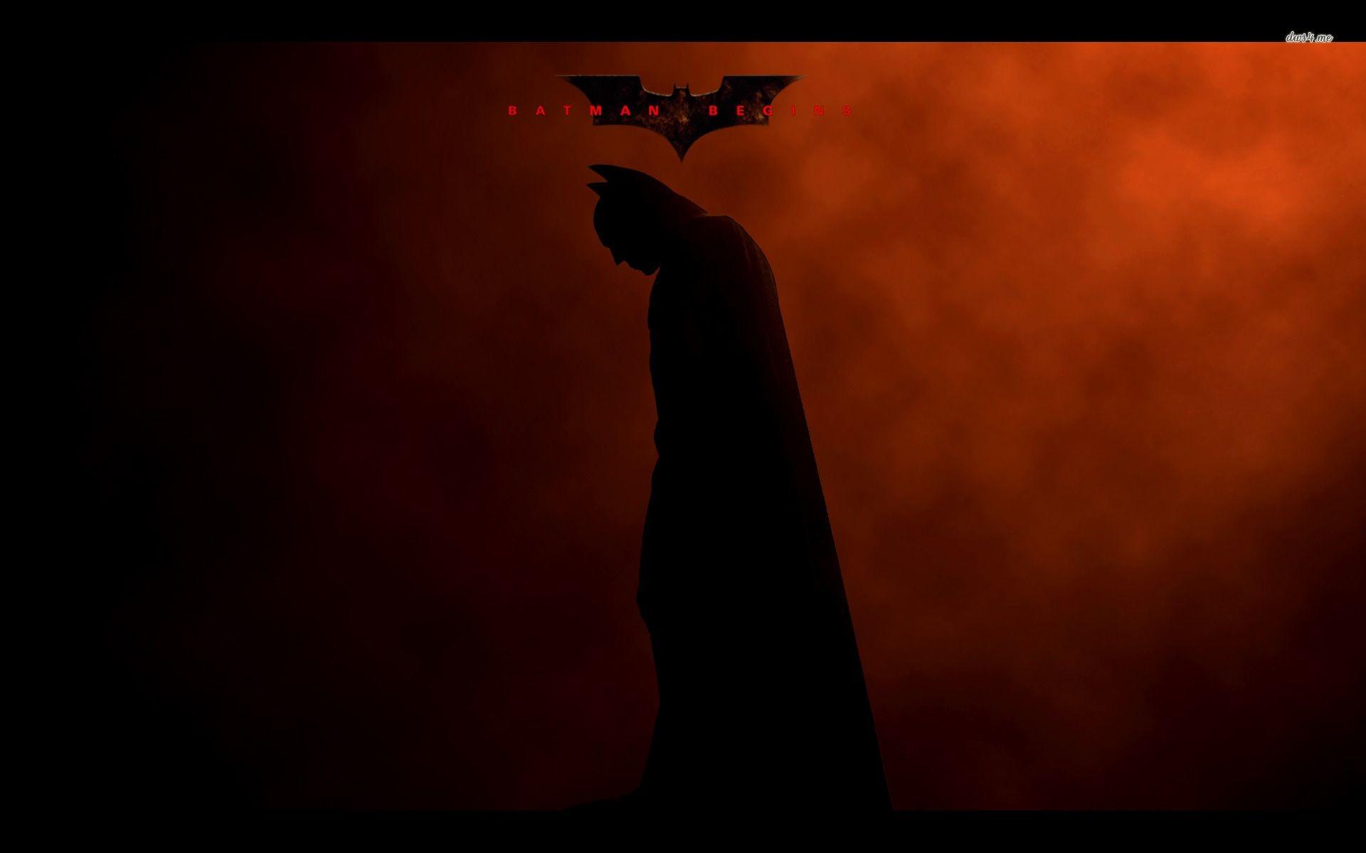 Batman logo and shadow wallpaper