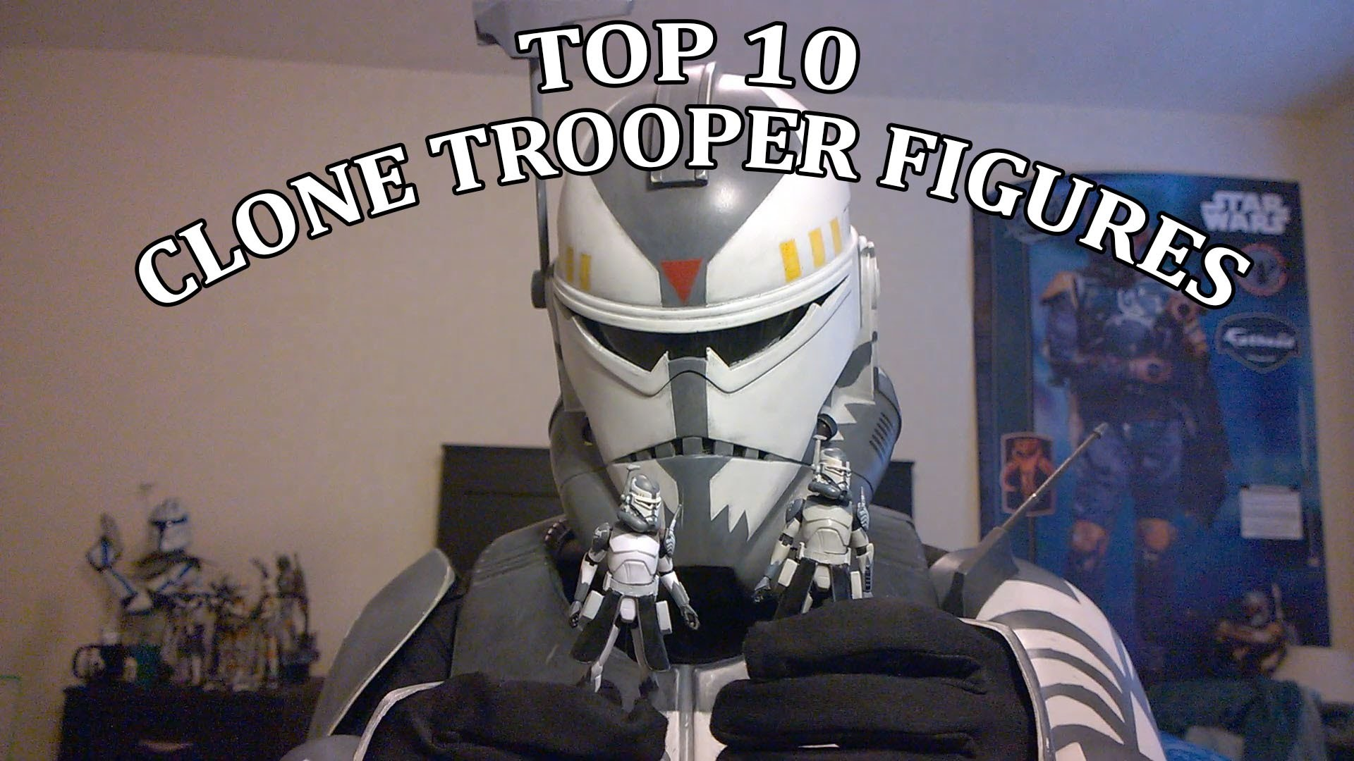 Top 10 The Clone Wars Clone trooper Hasbro figures with Wolffe HD – YouTube