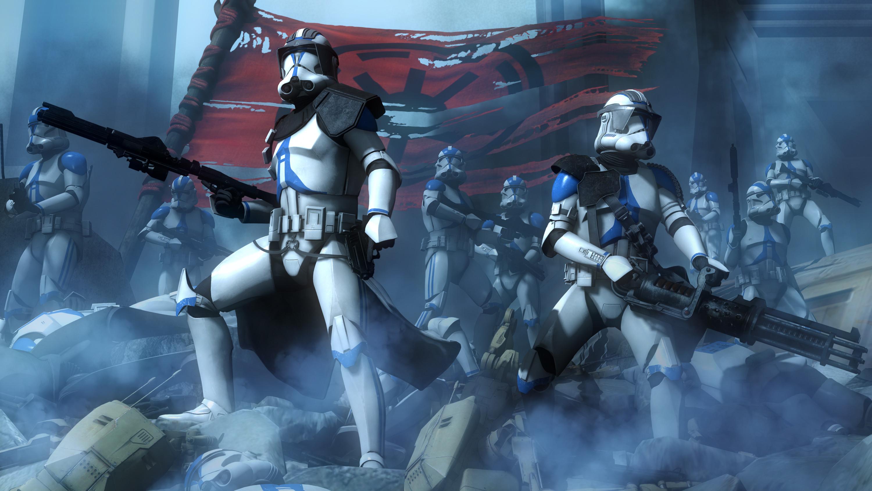 Movie – Star Wars: The Clone Wars Star Wars Scout Trooper Weapon Wallpaper