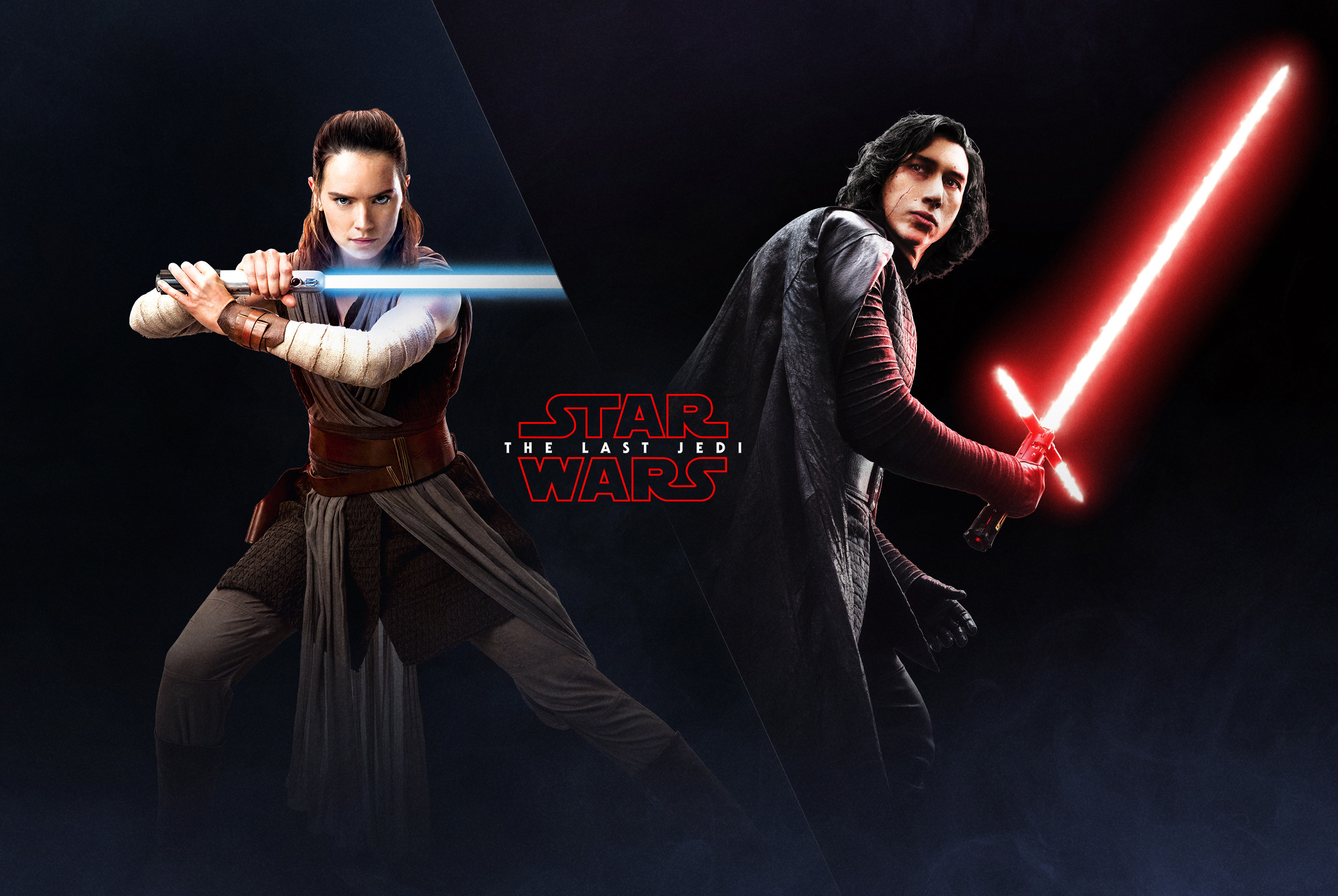 … The Last Jedi Wallpaper Rey and Kylo Ren EA Battlefront 2 Poster 2 HD