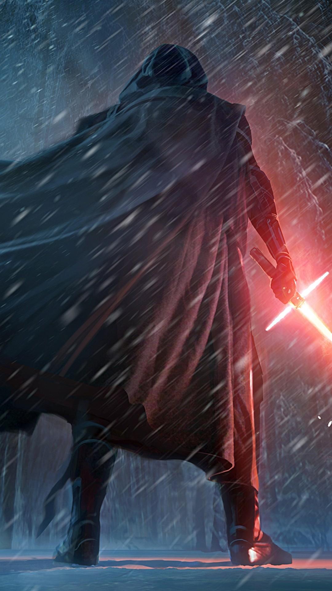 … Wallpaper Kylo Ren Snow Scene. Download: iPhone. Star …