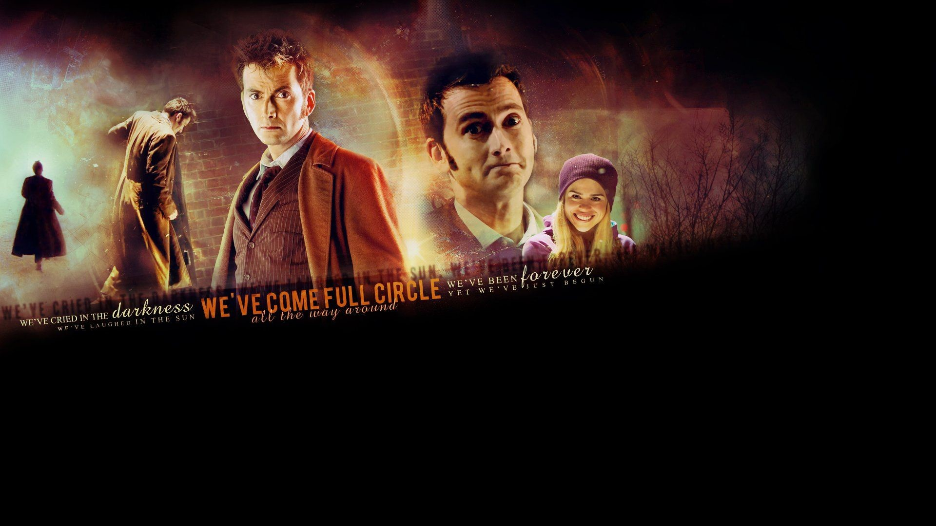 Text Rose Tyler David Tennant typography Billie Piper Doctor Who .