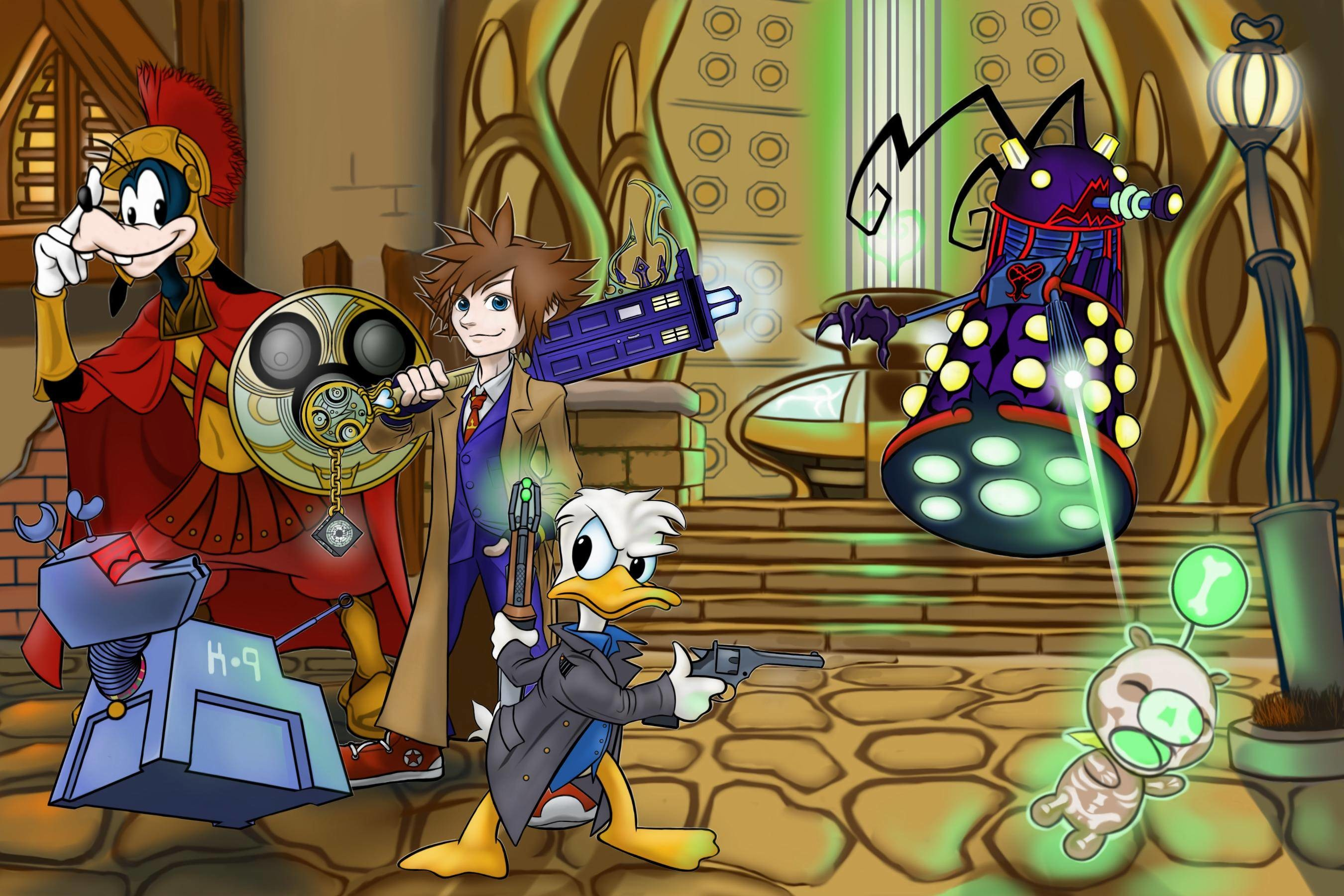 Doctor Who/Kingdom Hearts wallpaper …