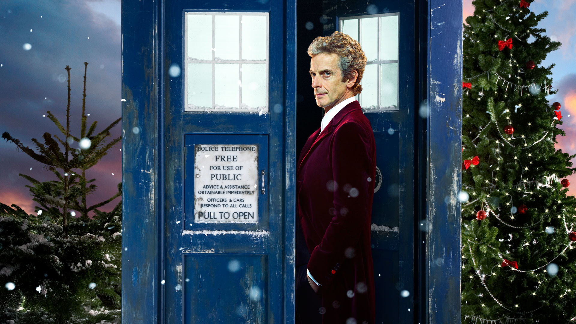 Arts/CraftsA Doctor Who Christmas Wallpaper featuring Peter Capaldi as the  Doctor, nice and early for your desktop!
