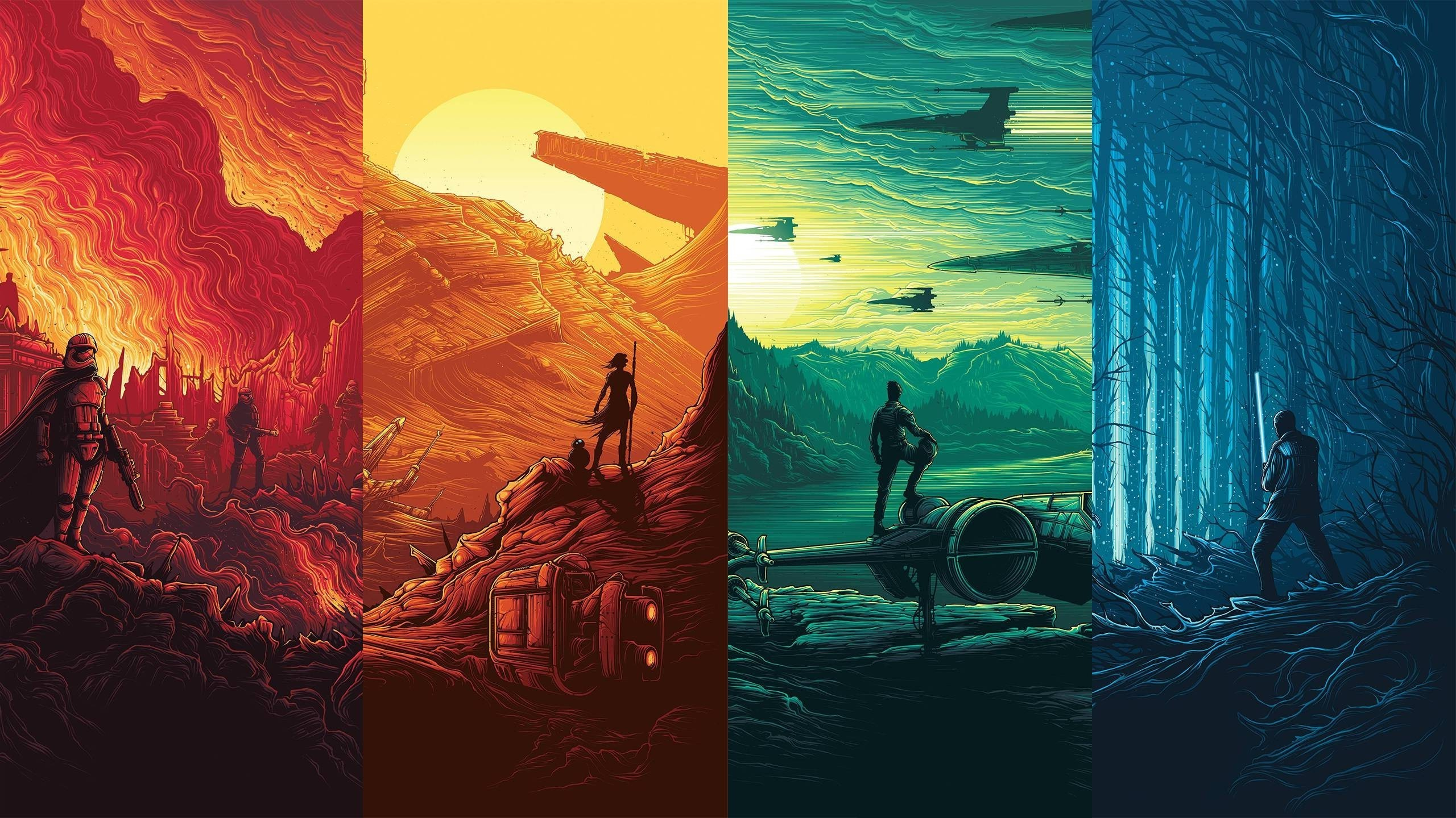 Star Wars: Episode VII The Force Awakens, Collage Wallpapers HD / Desktop  and Mobile Backgrounds