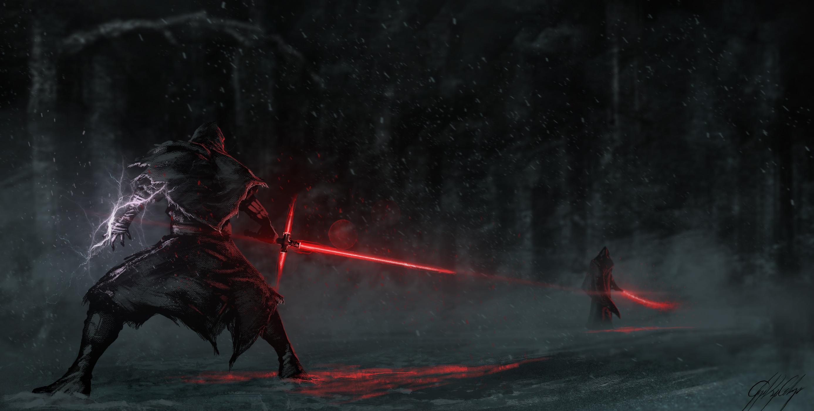 Movie – Star Wars Episode VII: The Force Awakens Star Wars Lightsaber Kylo  Ren Wallpaper