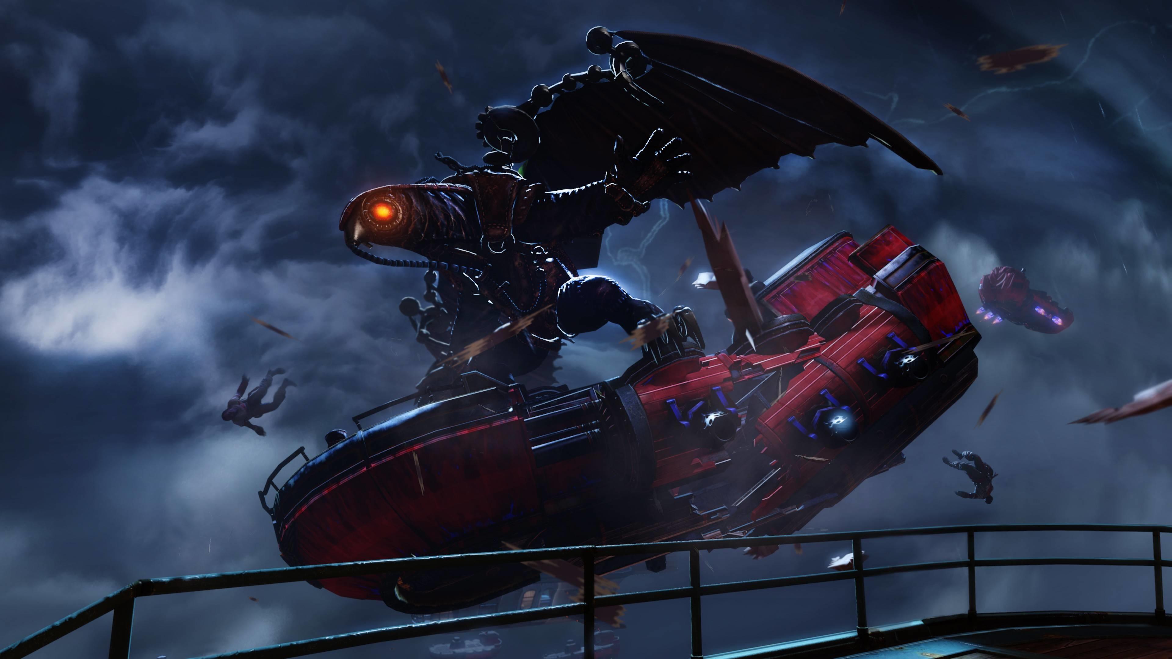 .com :: Sci-Fi/Fantasy Large Bird Flying on Ship – 4K .