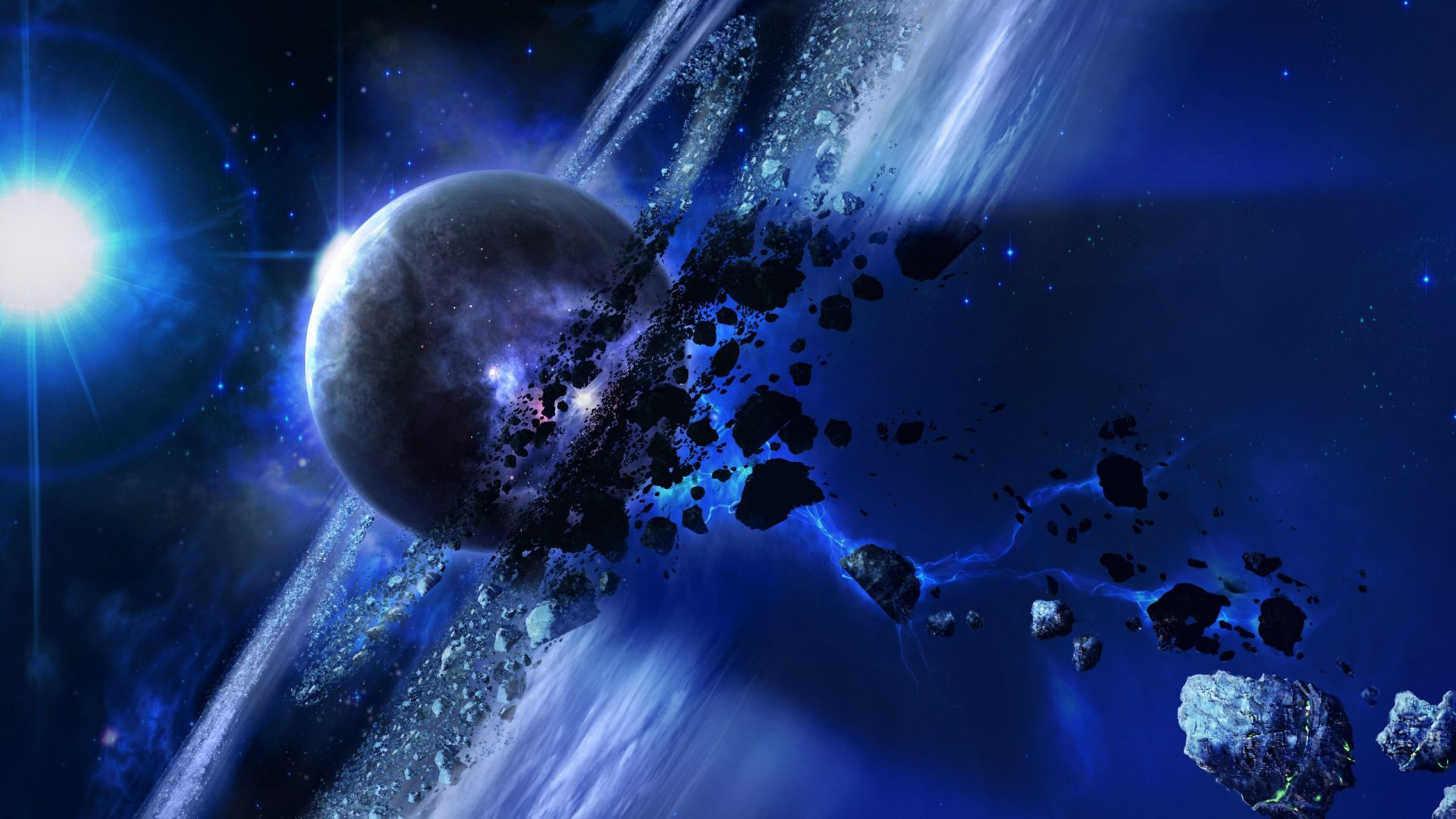 Meteorites Cosmos Sci Fi Wallpaper