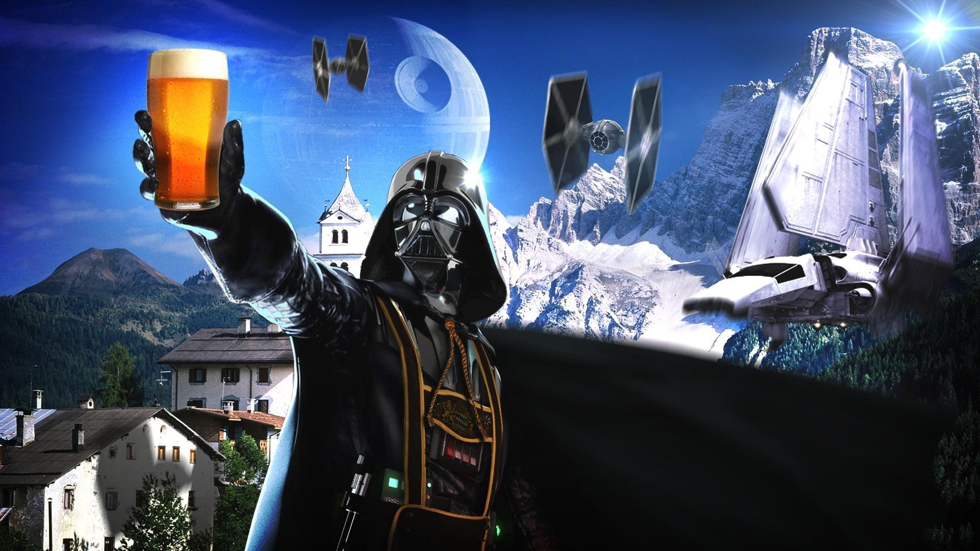Beers Star Wars Darth Vader Sith German Alps Sci Fi Science Spaceships  Spacecraft Wide