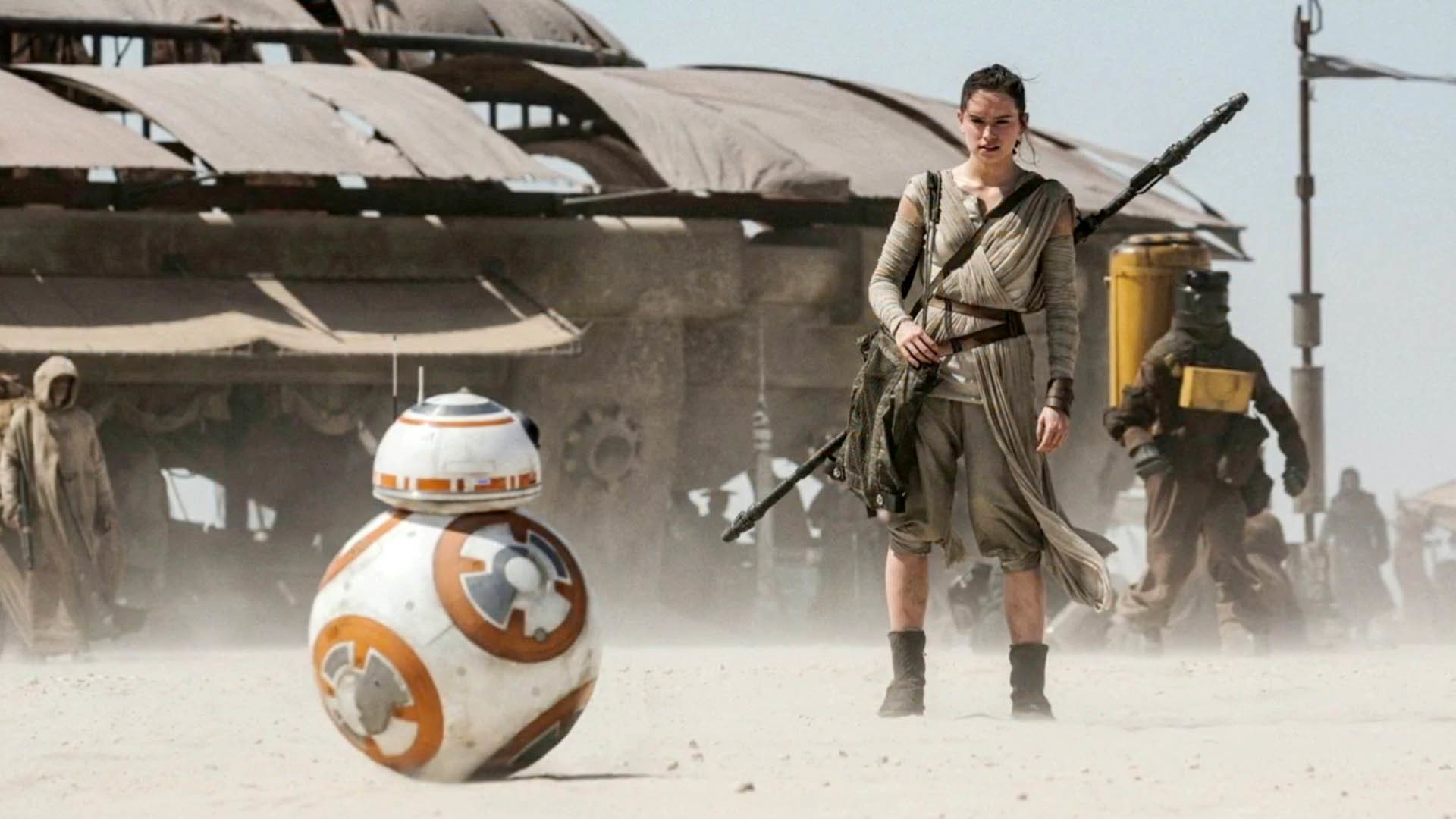 BB-8 and Rey – Star Wars 7: The Force Awakens wallpaper