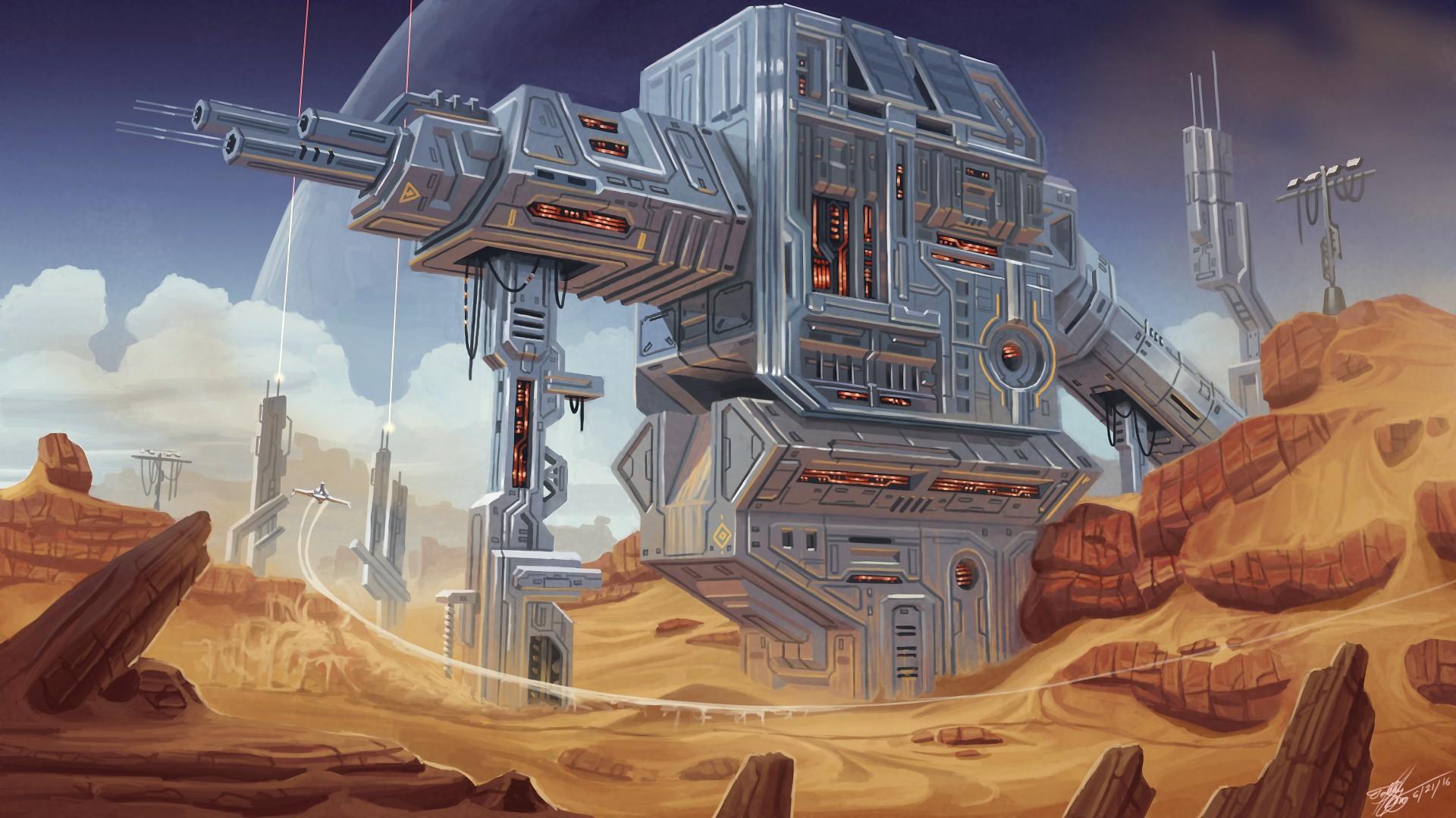 Retro sci-fi concept