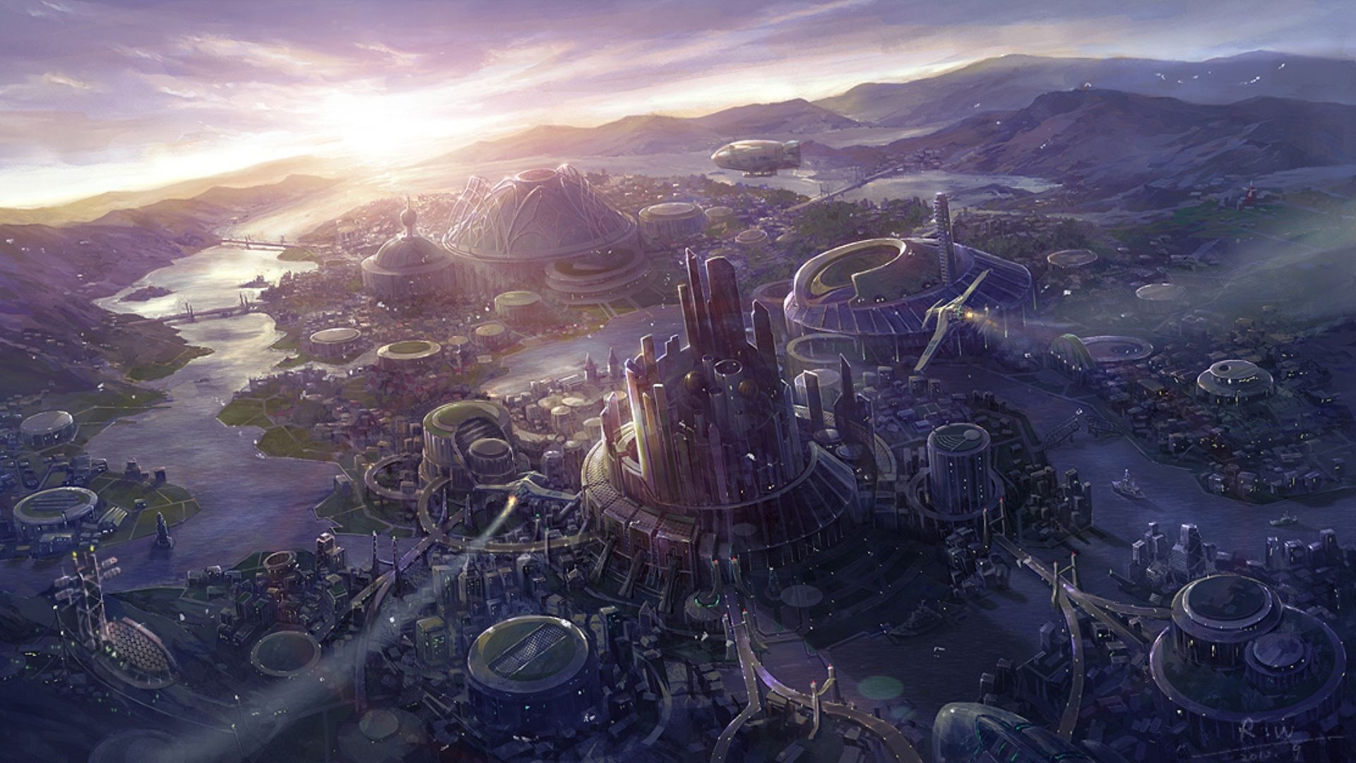 sci fi fantasy landscape   Sci Fi Landscape Wallpaper/Background 1920 x  1080 – Id