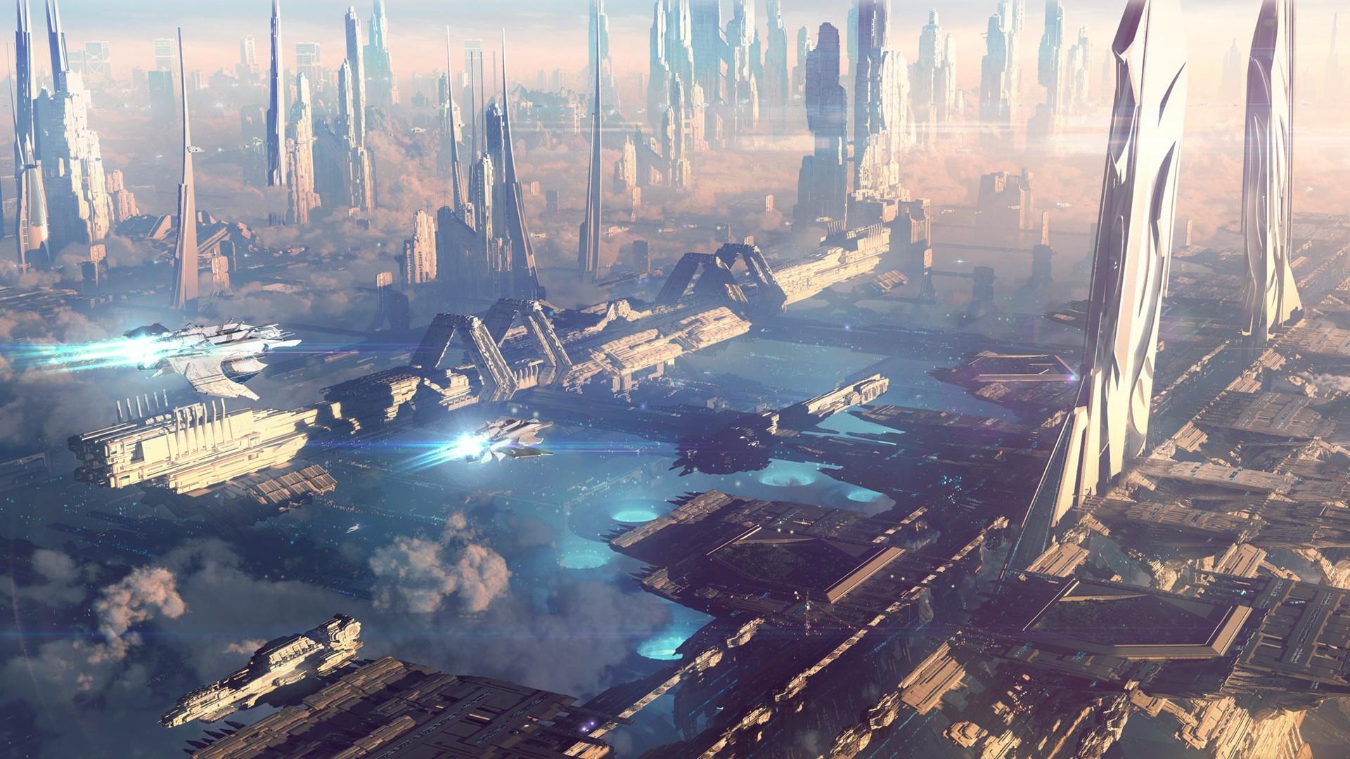 futuristic-city-wallpaper-30.jpg (1920×1080)   Futuristic Cities    Pinterest   Sci fi, Futuristic city and Concept art