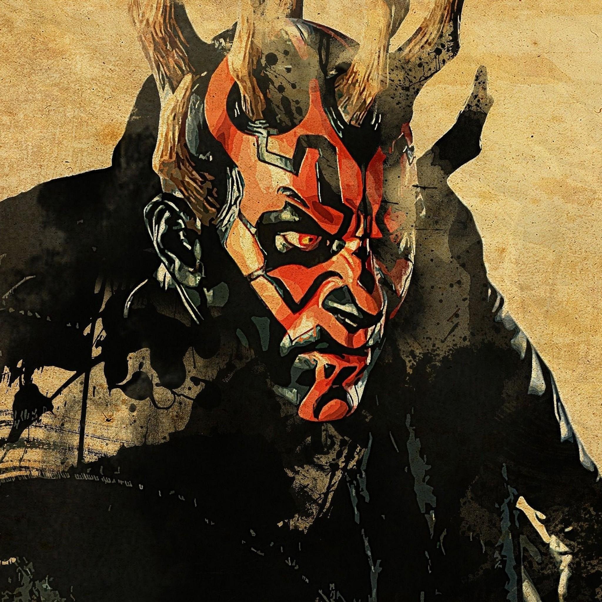 Preview wallpaper star wars, darth maul, art 2048×2048