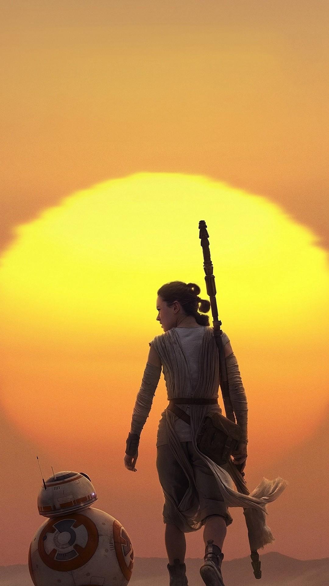 Force Awakens Starwars Art Rey iPhone 6 wallpaper