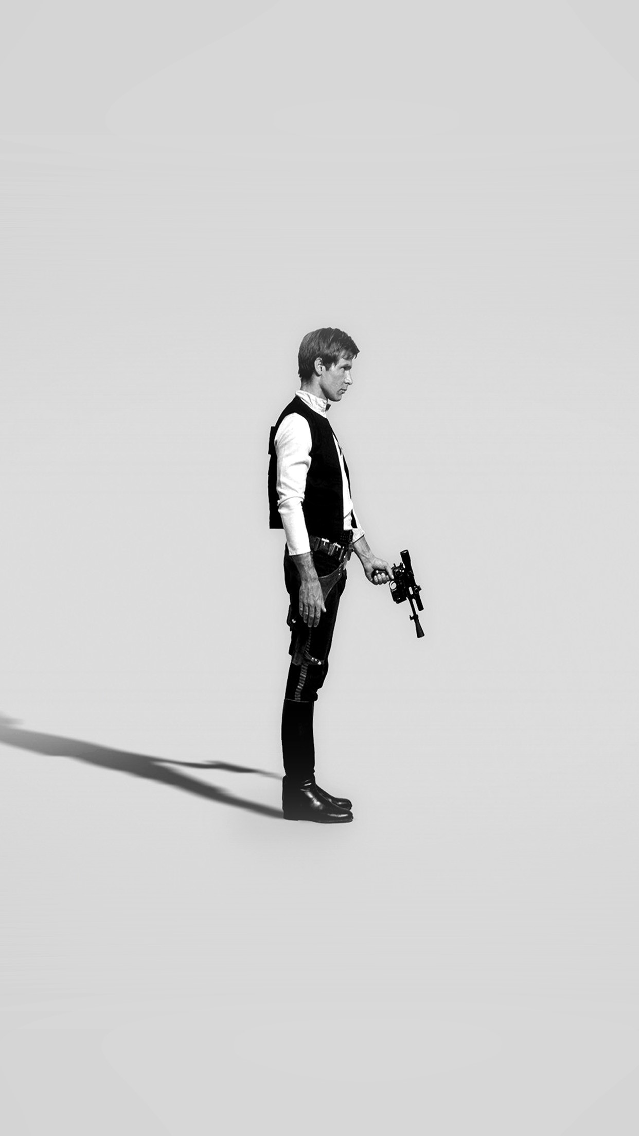 Han Solo Starwars Hero Art Minimal Bw
