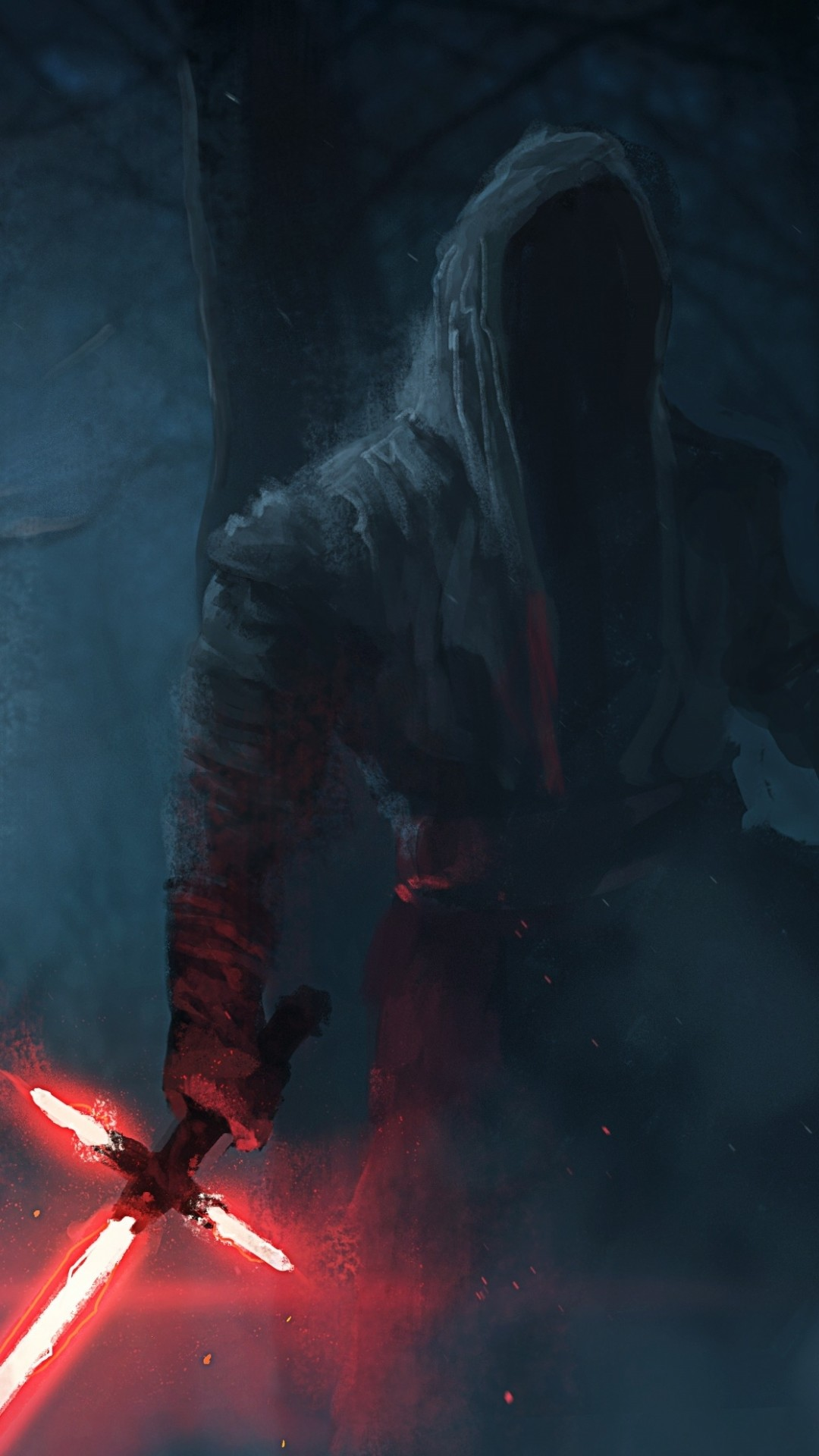 Star Wars The Force Awakens Wallpaper Kylo Ren painting