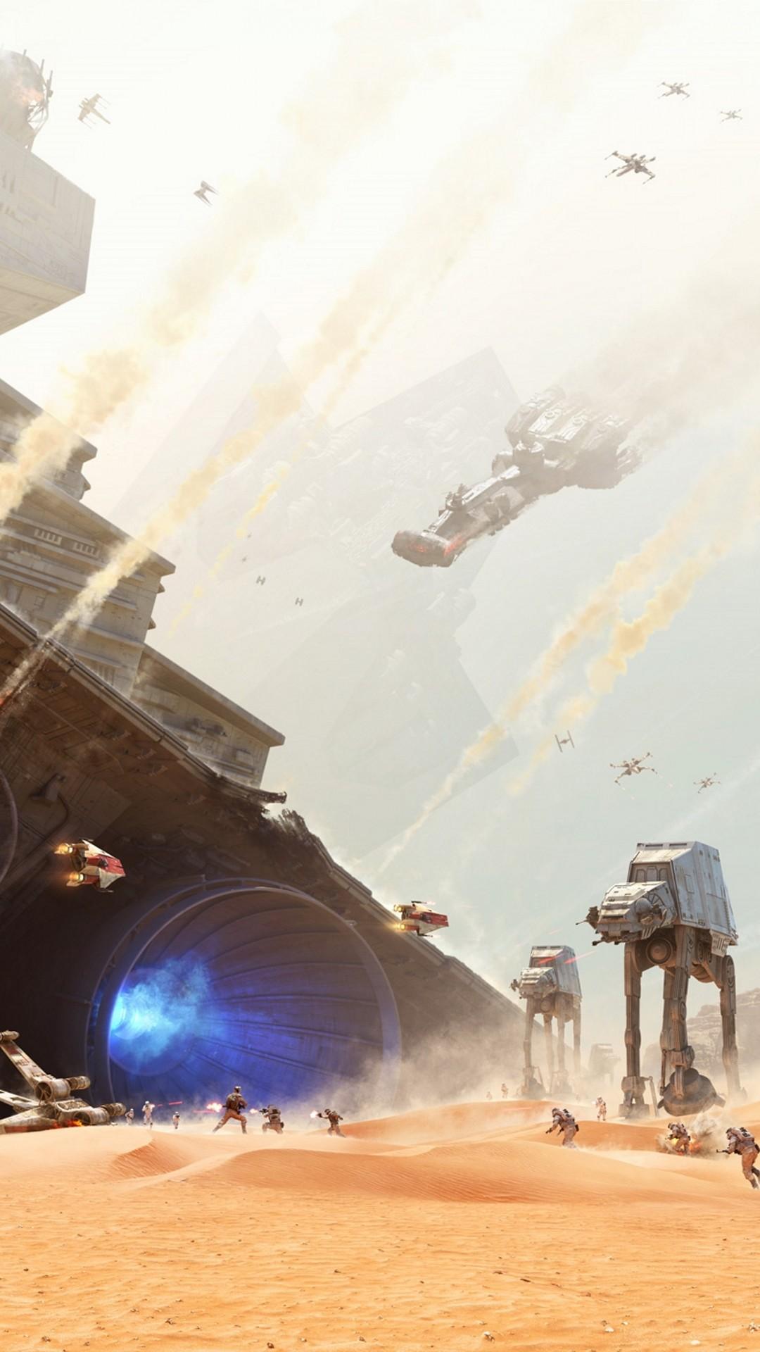 Star Wars The Force Awakens Wallpaper Jakku Graveyard