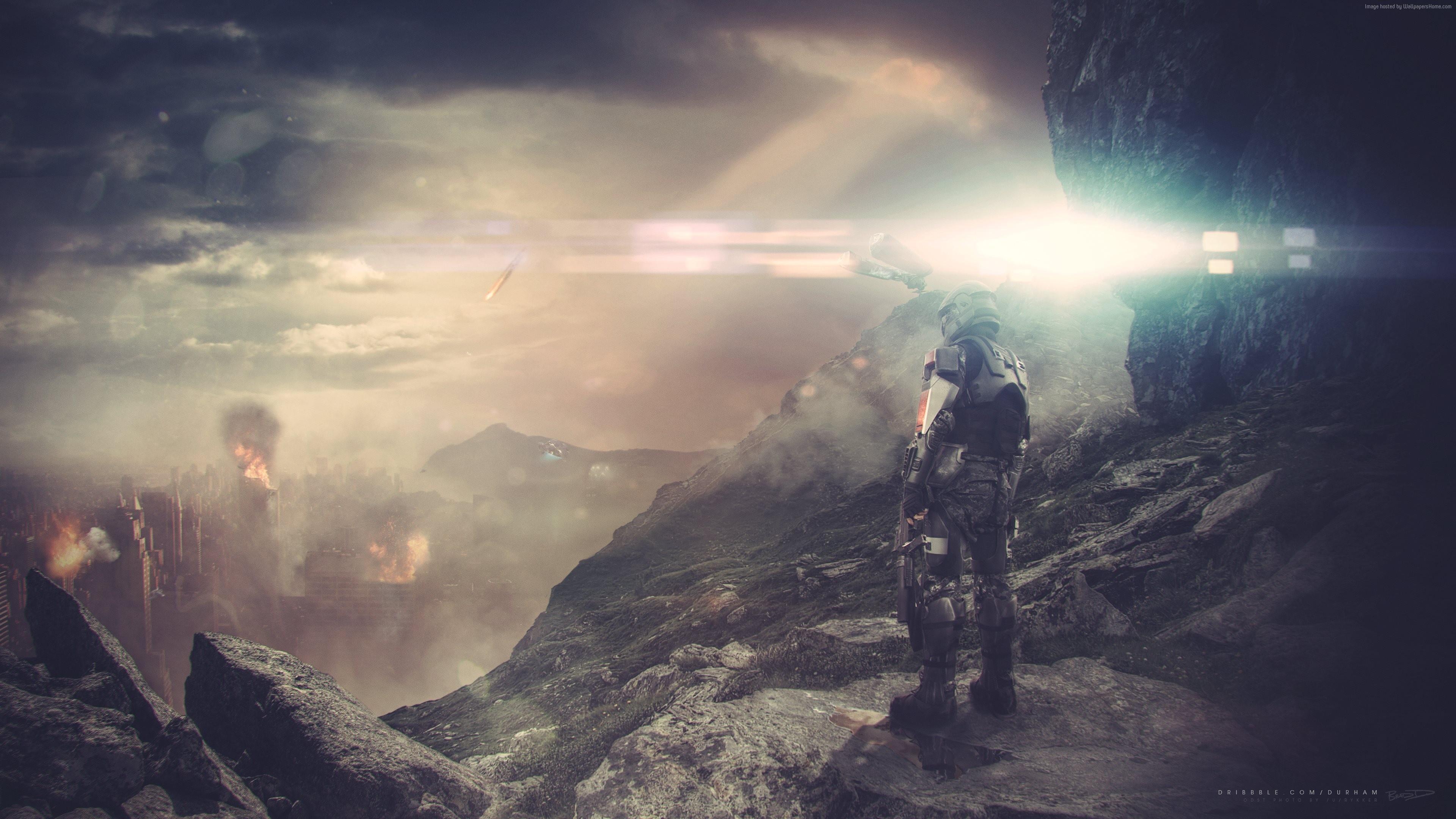 Halo 5: Guardians, 4k, HD wallpaper, game, fps, sci- …