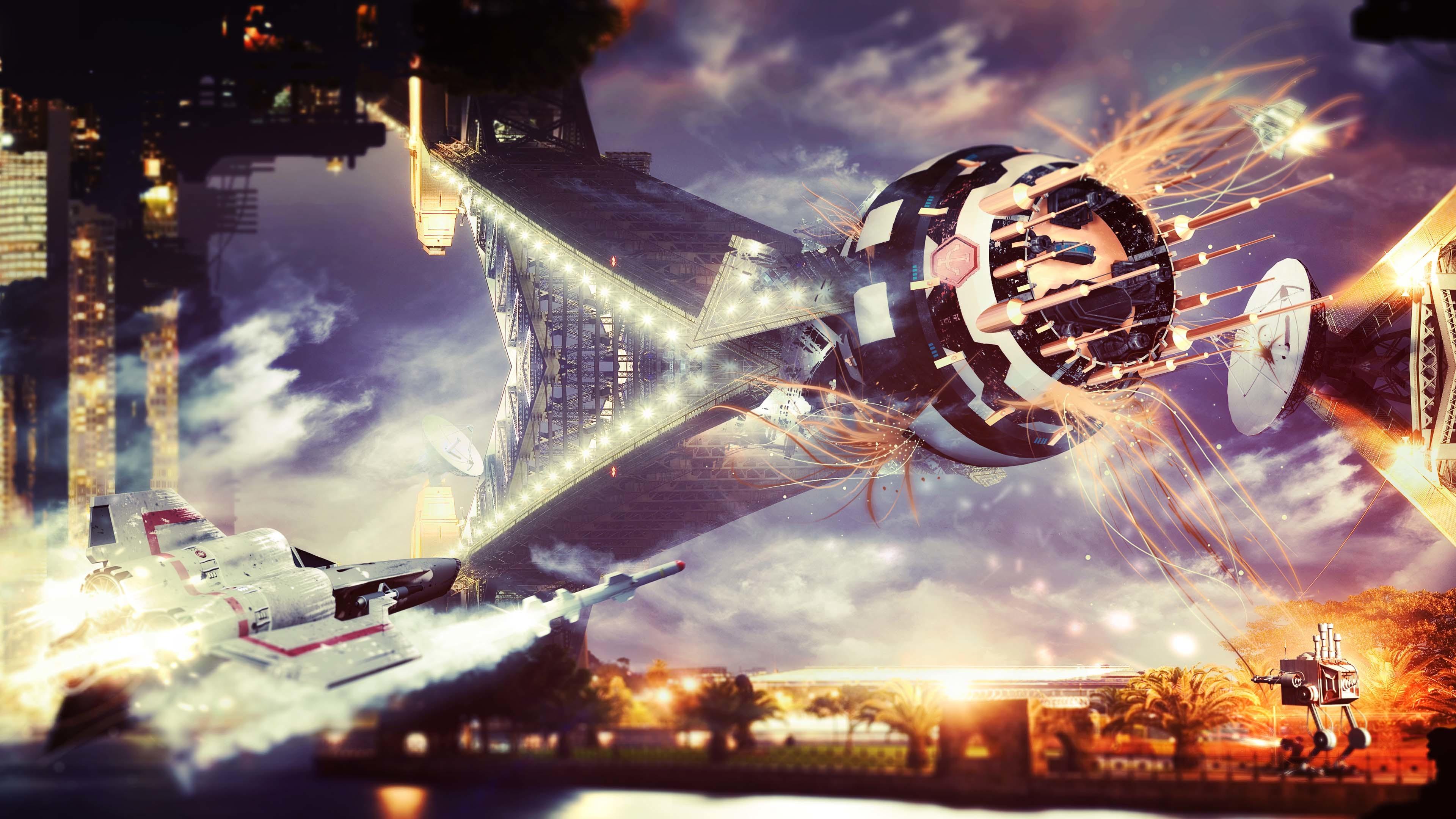 4K HD Wallpaper: Science Fiction Vision