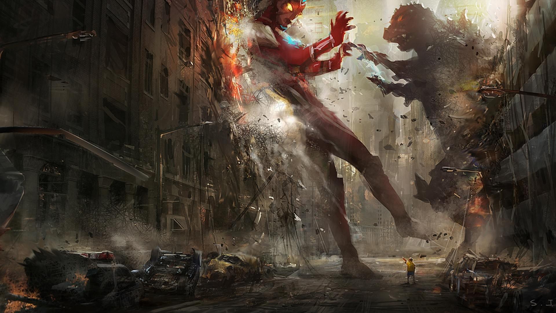 Godzilla vs Ultraman Wallpaper