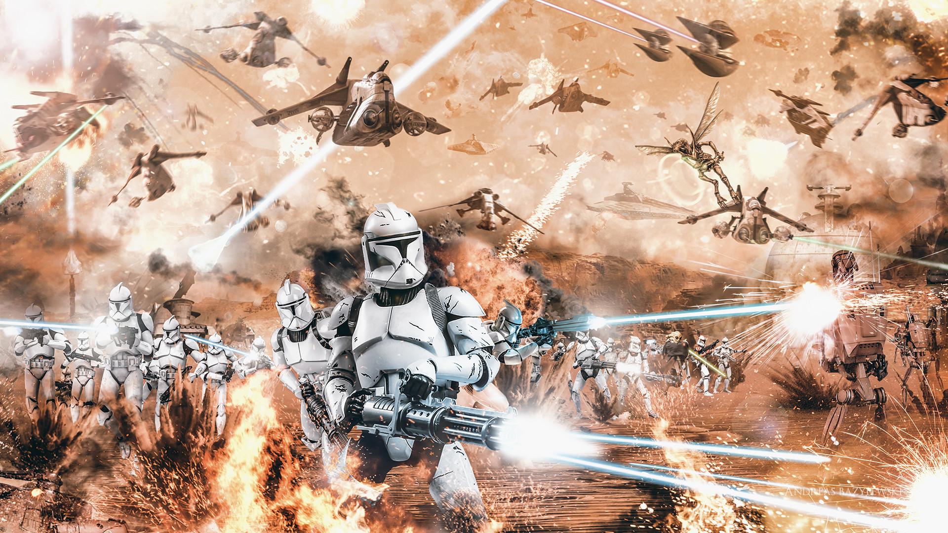 Movie – Star Wars Episode II: Attack Of The Clones Star Wars Clone Trooper  Battle