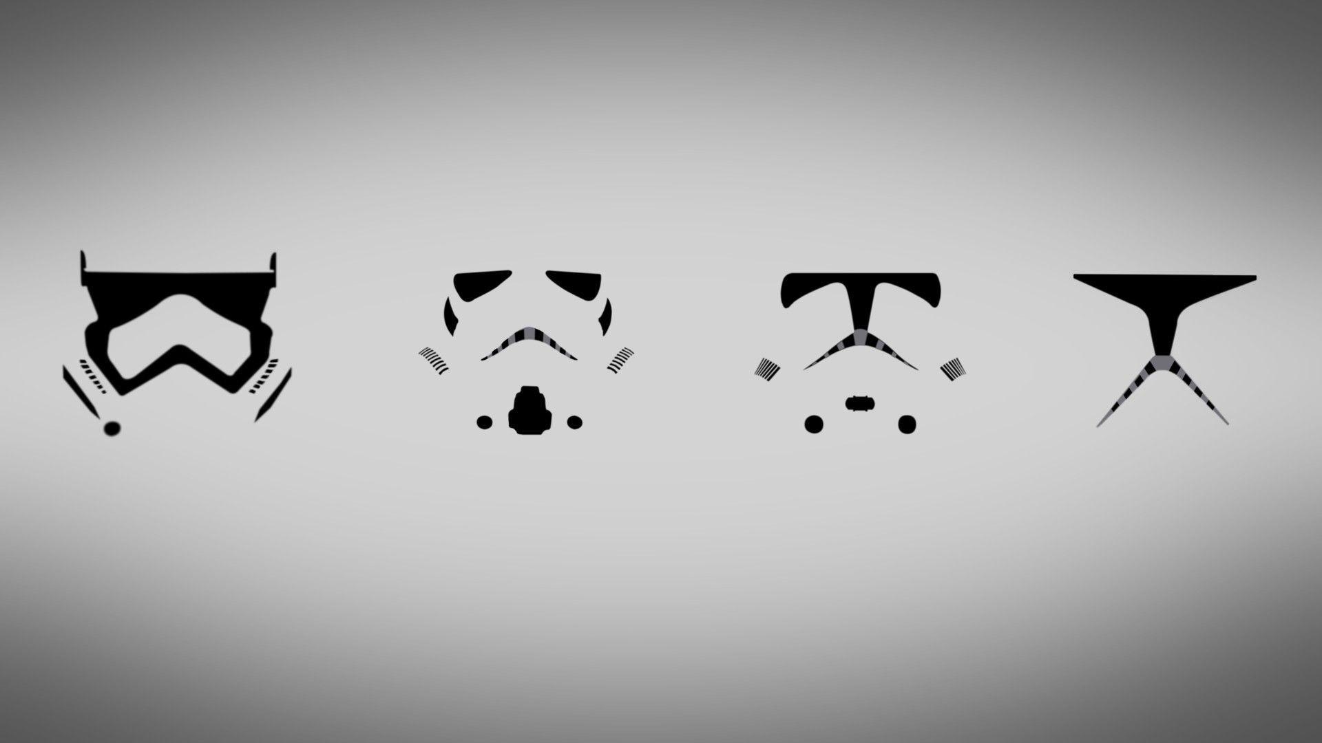 Star Wars, Stormtrooper, Simple, Clone Trooper, Minimalism .