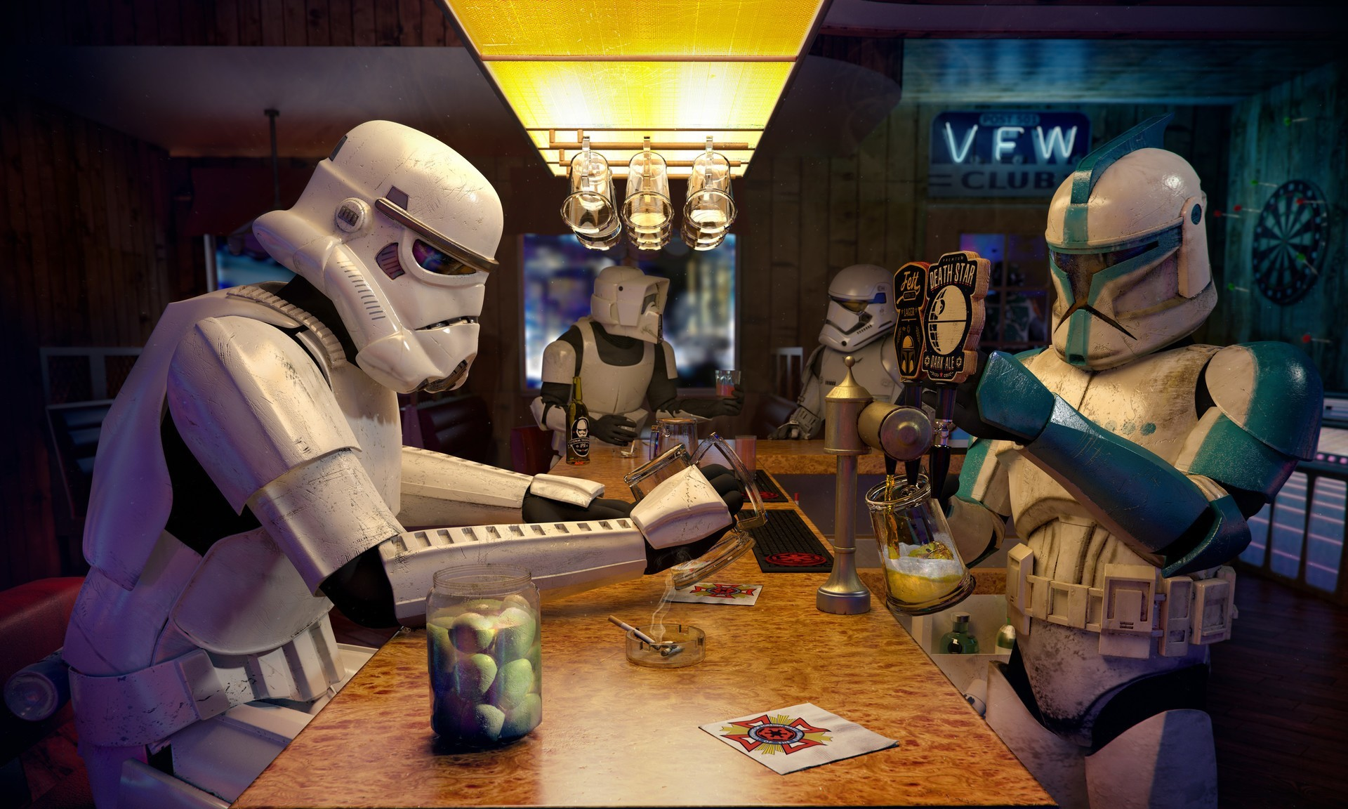 stormtrooper, Clone Trooper, Scout Trooper, Bar, Star Wars Wallpapers HD /  Desktop and Mobile Backgrounds