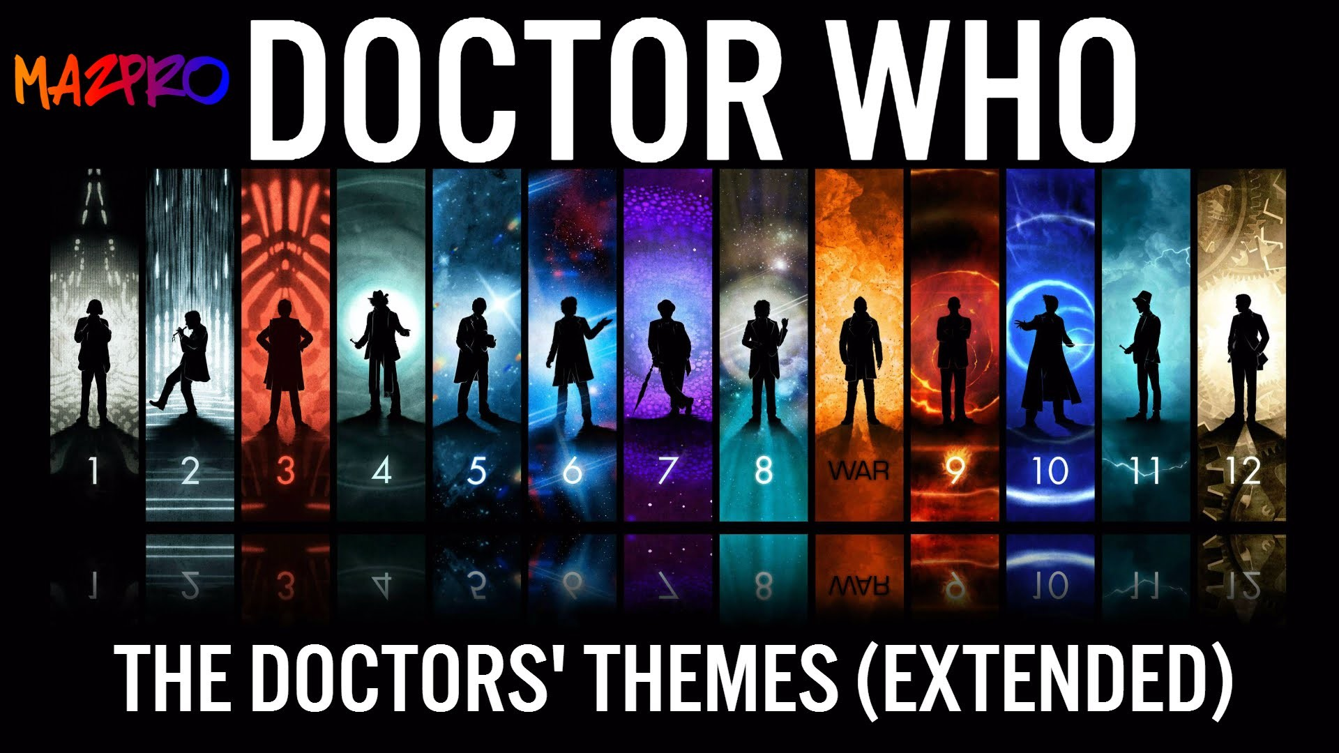 Doctor Who: The Doctor's Themes: 2,3,4,7,8,9,10,11,12, War (EXTENDED) –  YouTube