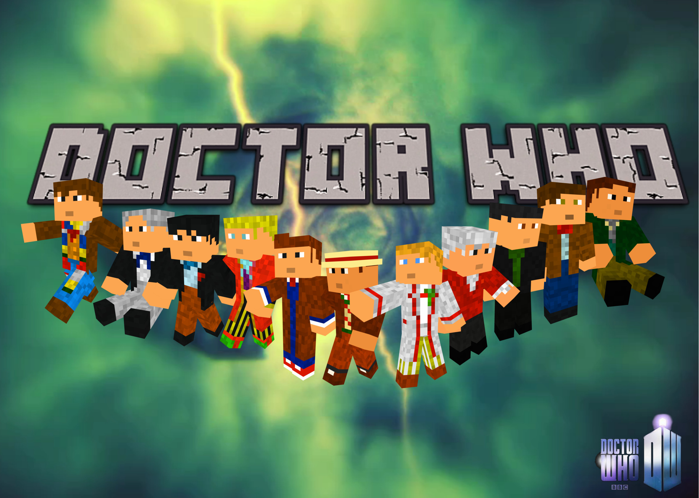 Doctor Who Minecraft Wallpaper by Captainpikachu Doctor Who Minecraft  Wallpaper by Captainpikachu