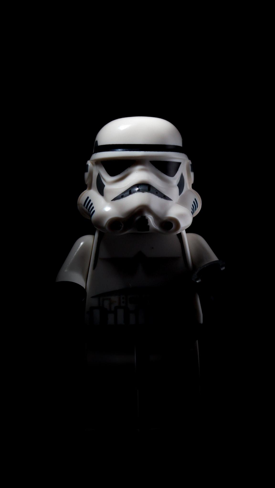 Stormtrooper shadow (iPhone 6) Black Wallpaper