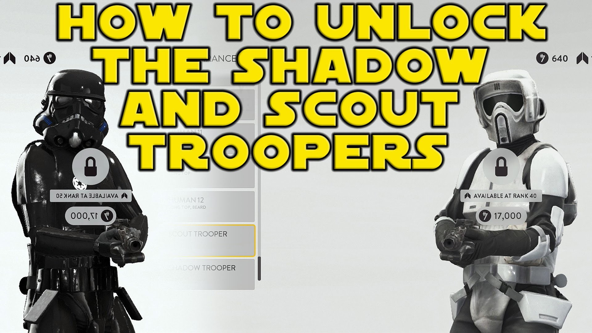 How To Unlock The Shadow Trooper and Scout Trooper – Star Wars Battlefront  Character Customization – YouTube
