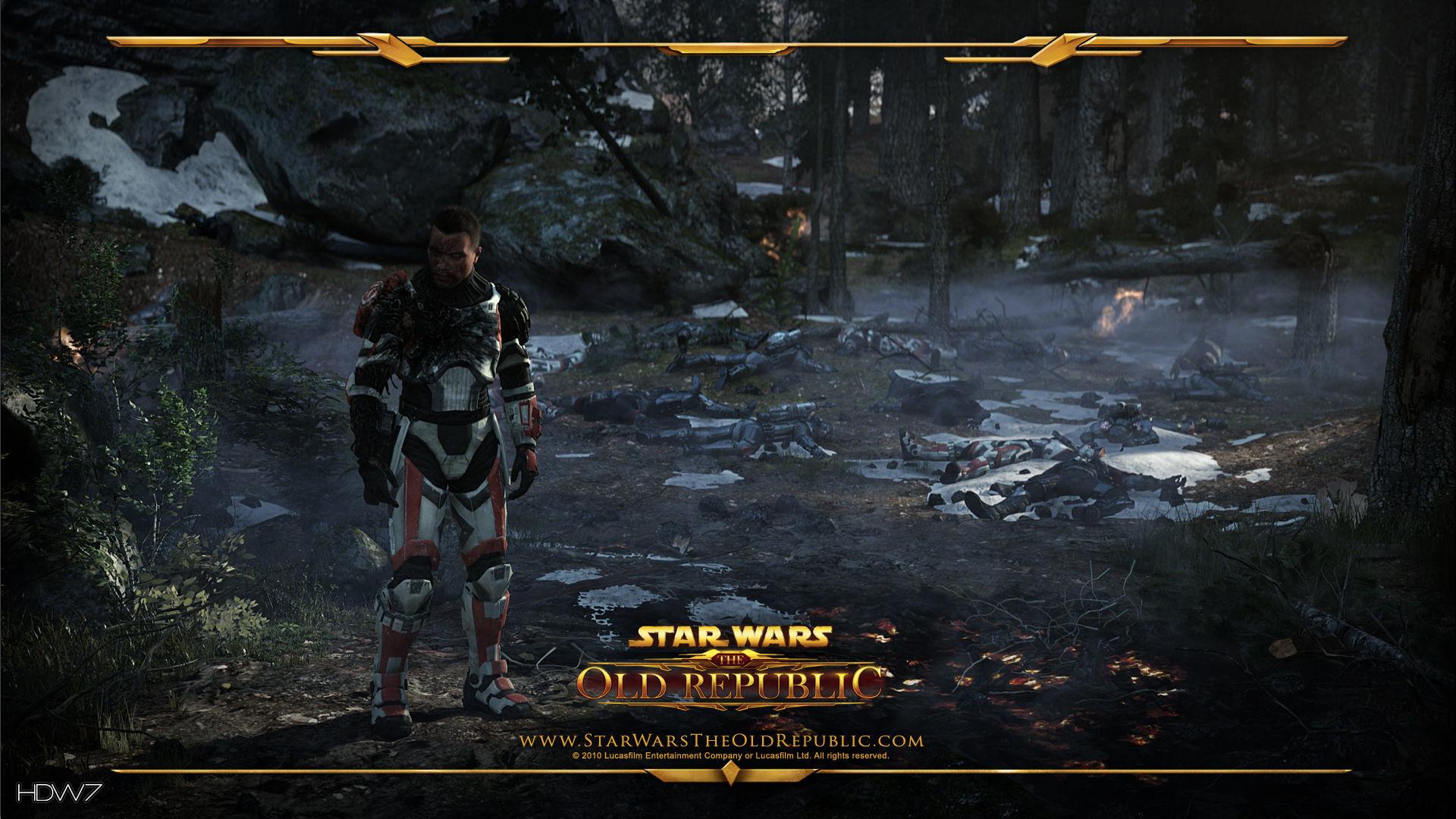 star wars the old republic last trooper standing widescreen hd wallpaper