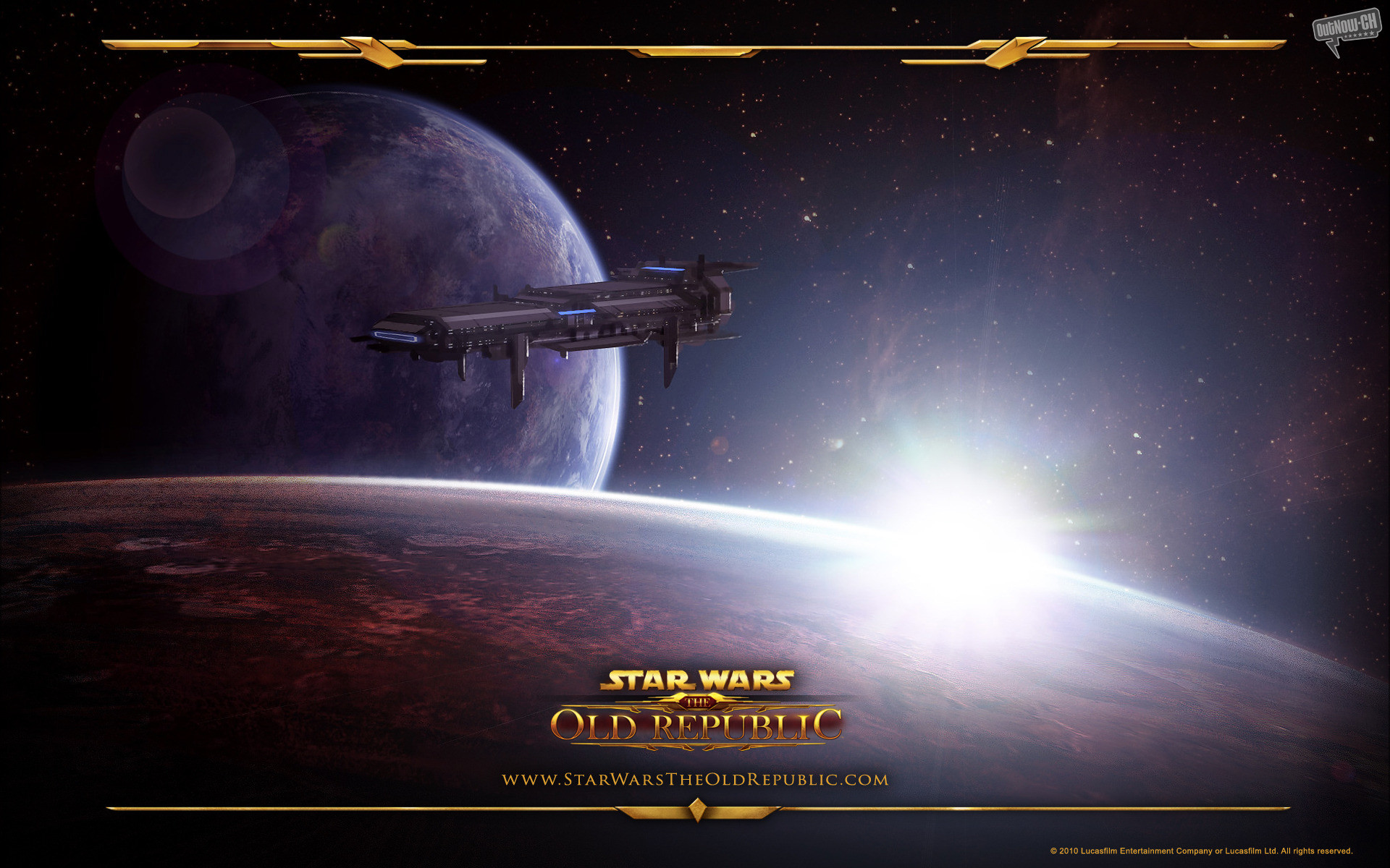Video Game – Star Wars: The Old Republic Game Star Wars Republic Spaceship  Planet Space