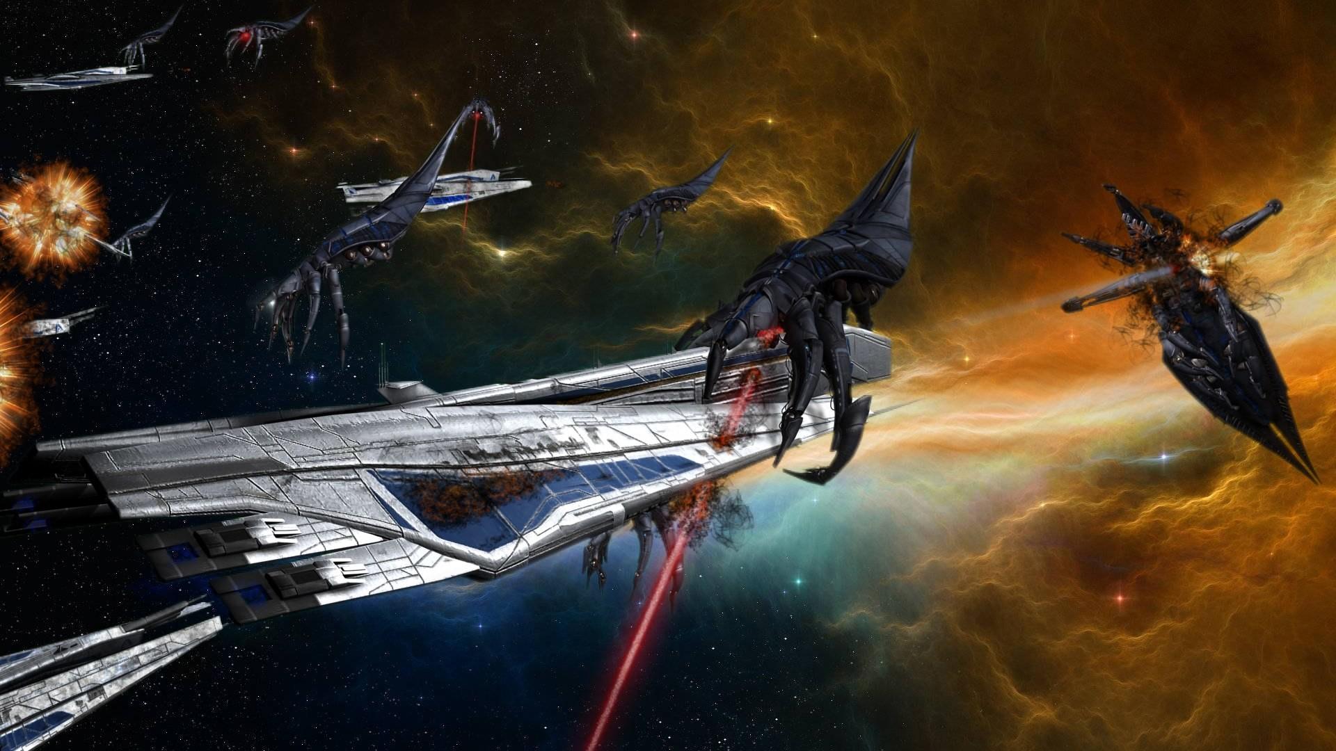amazing scifi space battle HD wallpapers