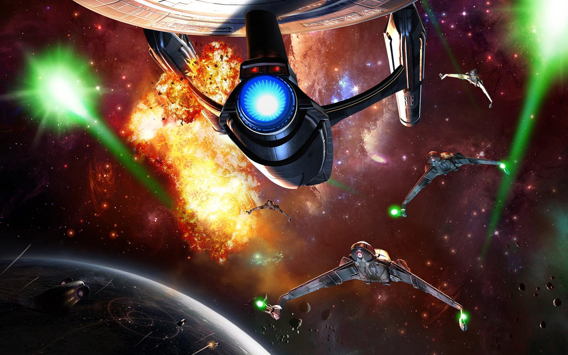 Download Space Battle wallpaper (1920×1200)