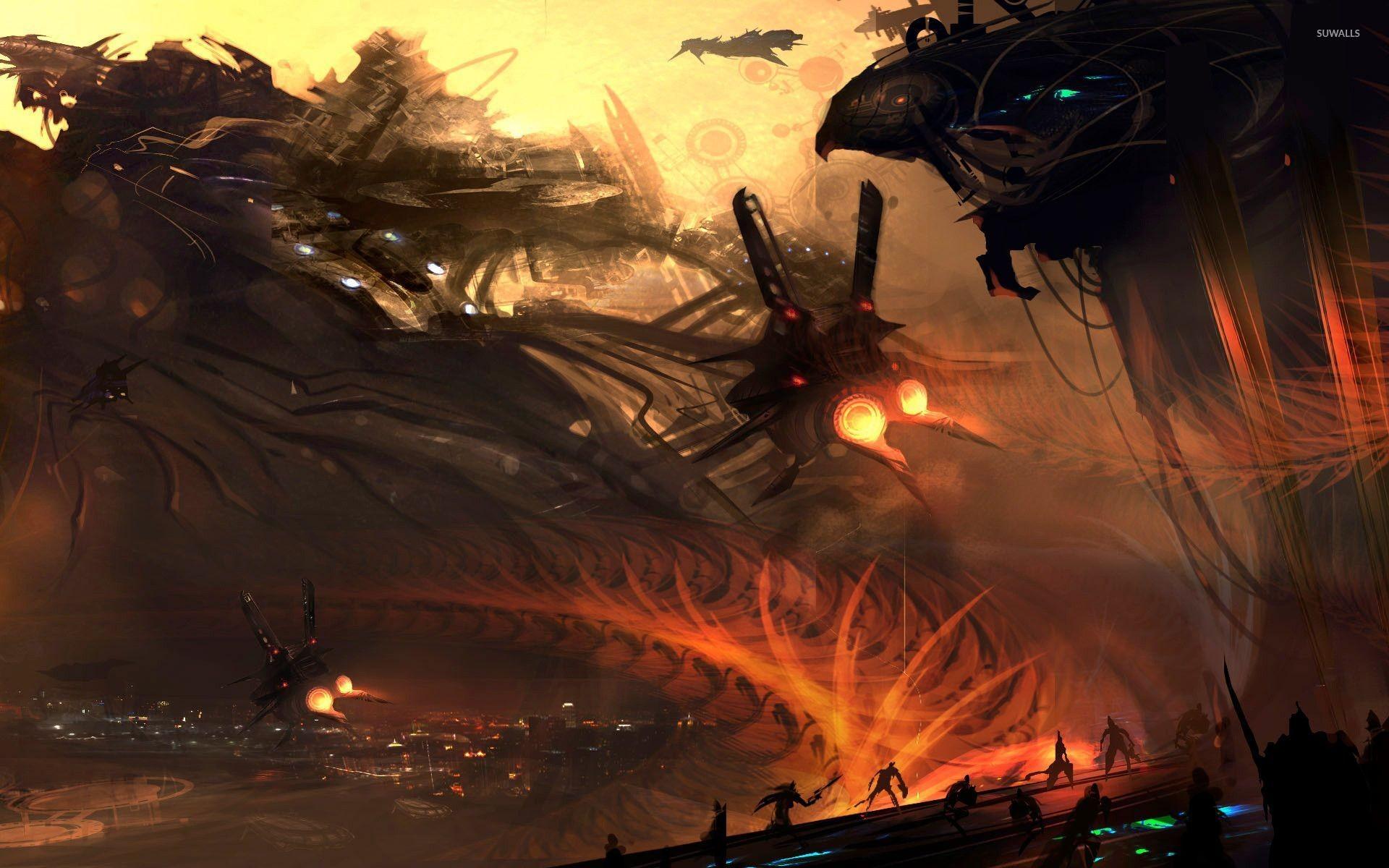 Space battle [2] wallpaper