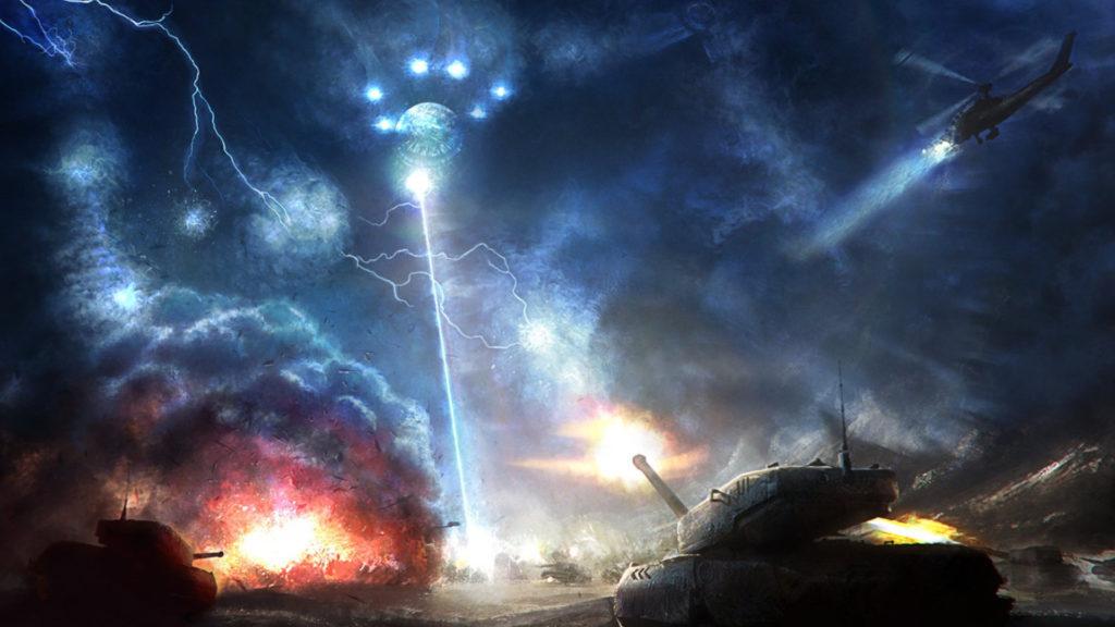 Battle in space #32667 HD Wallpaper