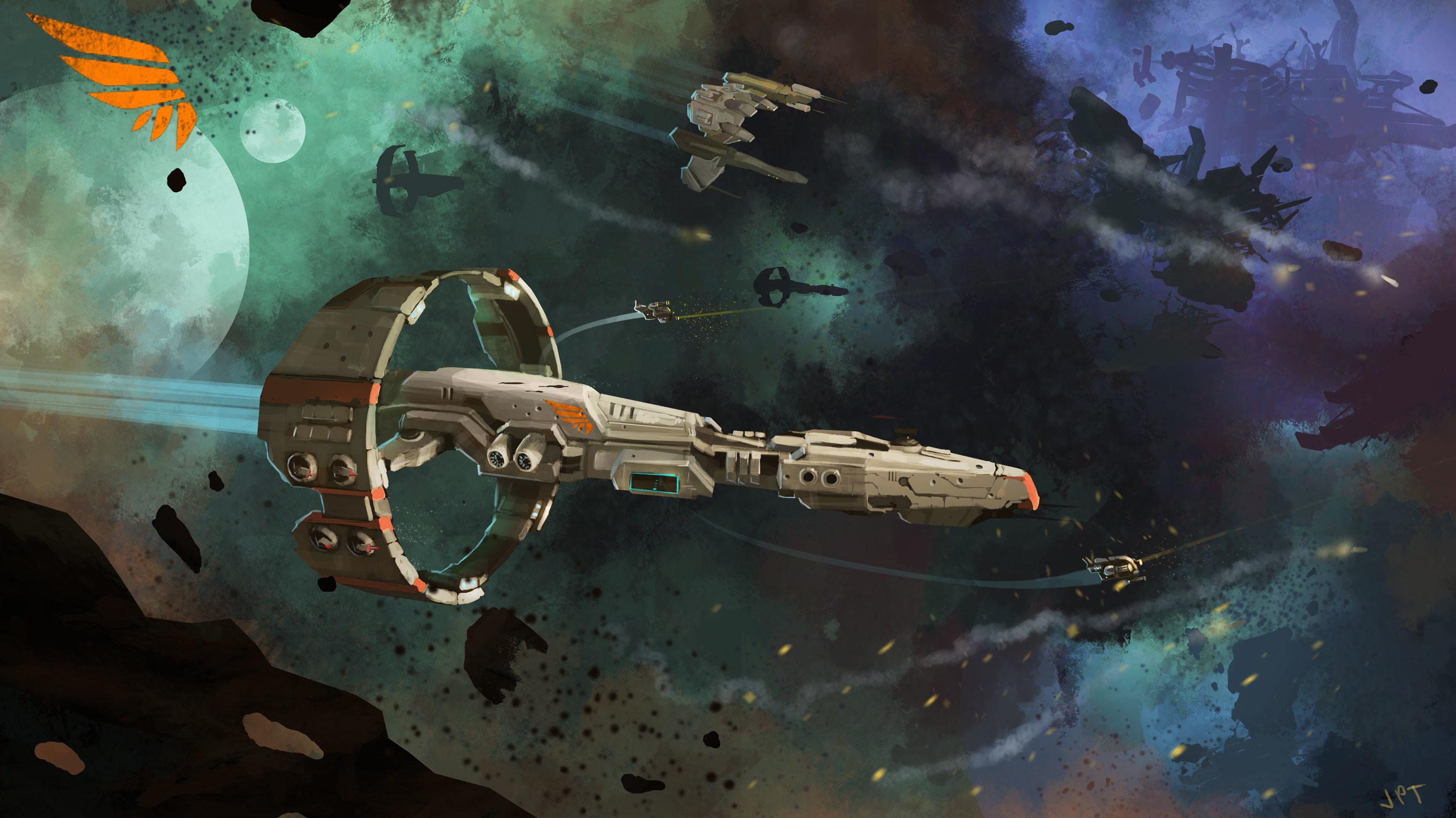Sci Fi – Spaceship Starship Space Space Battle Wreck Wallpaper