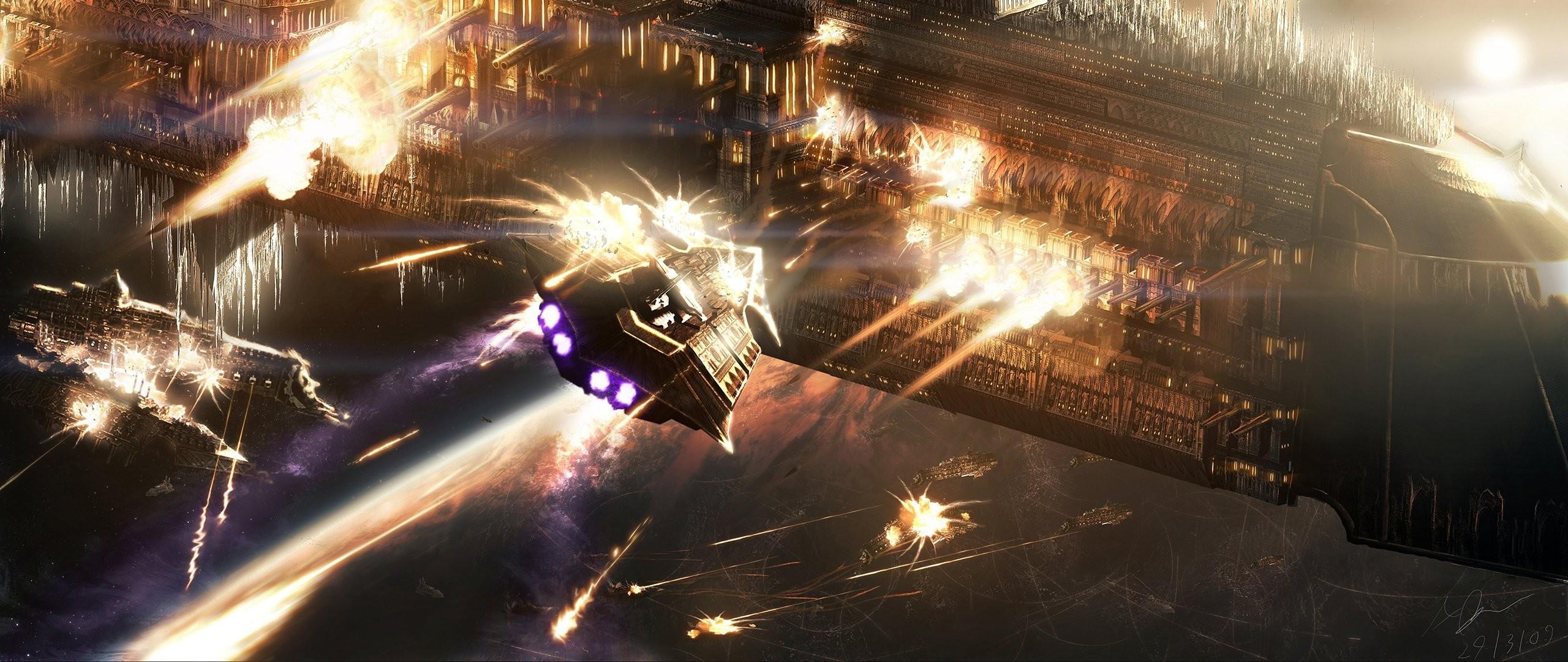warhammer battleship space battle battle ships planet navy