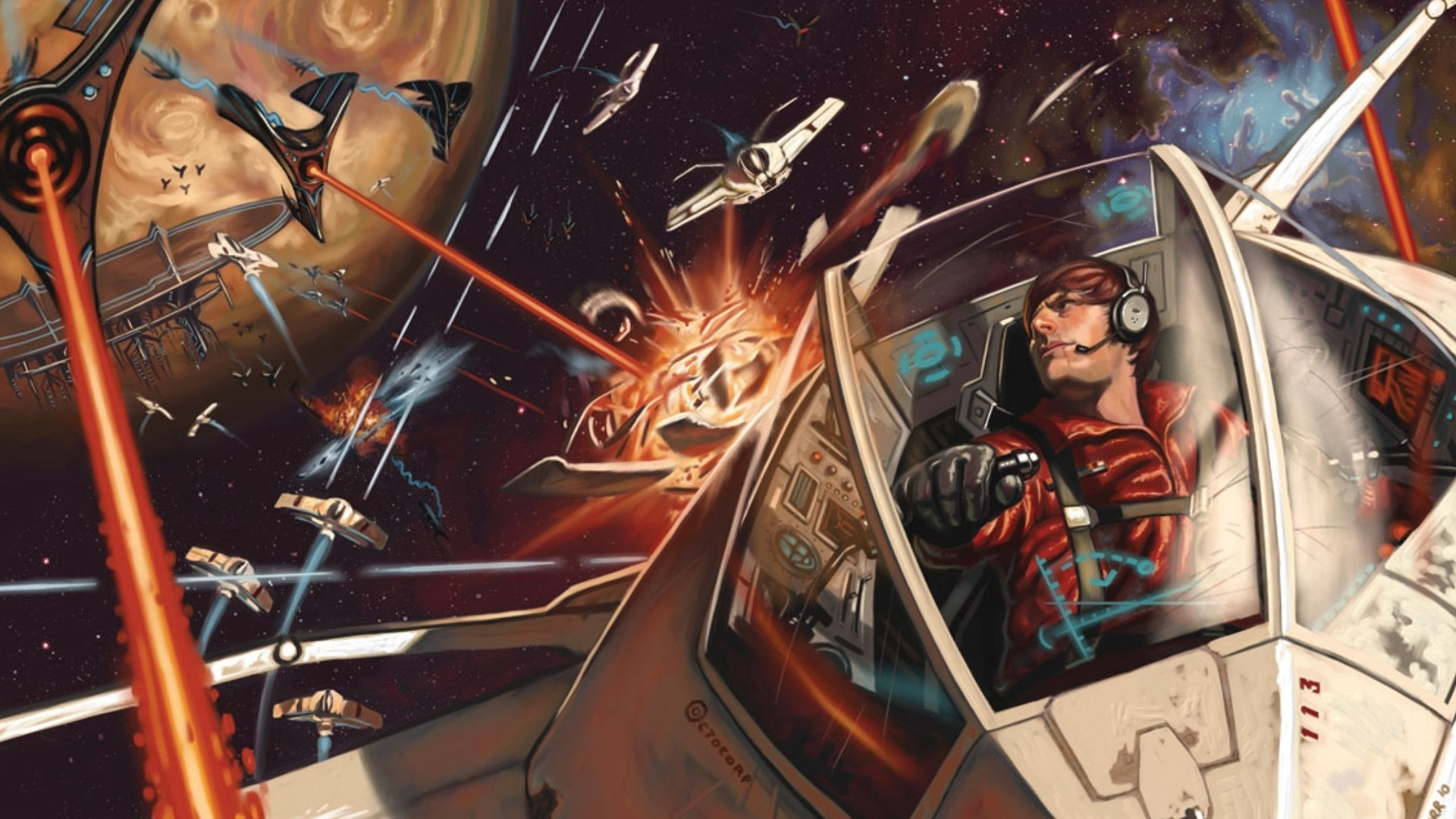 Fantasy art Abstract battle space spaceship wallpaper .