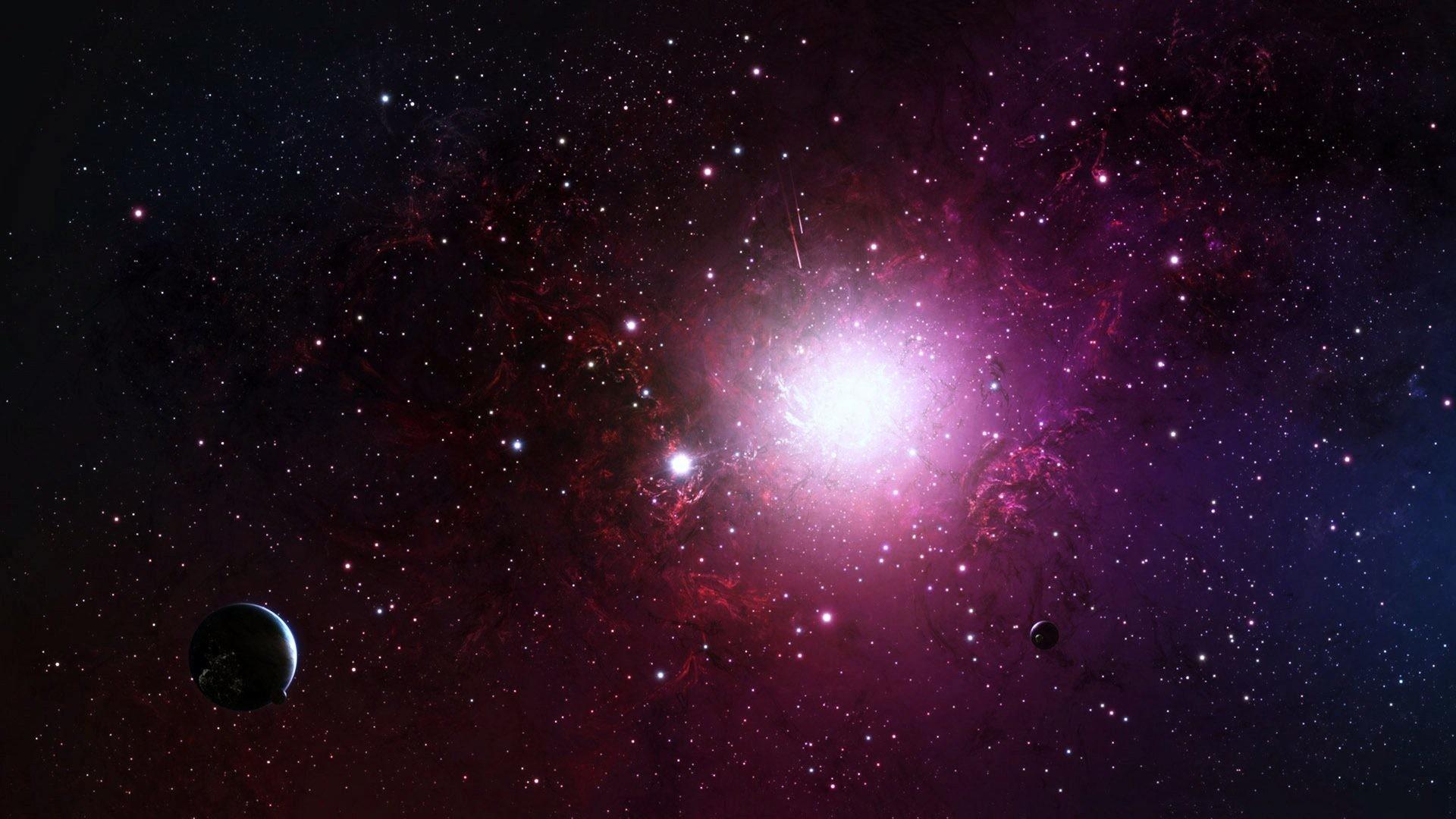 October 8, 2016 – Colors Nebula Glow Pink Sky Planets Galaxy Space Universe  Ufo Stars