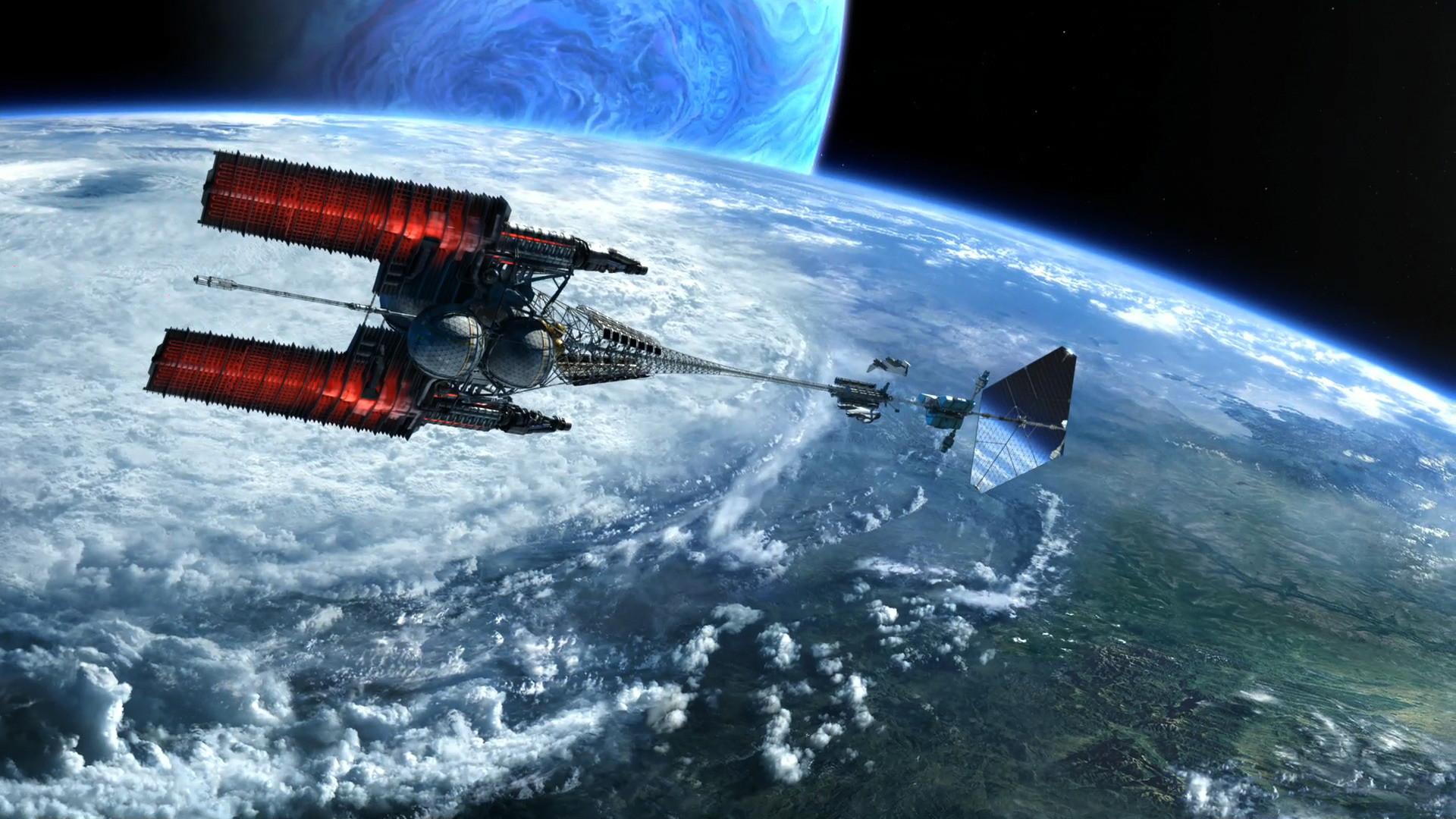 Preview Spaceship over Pandora orbit