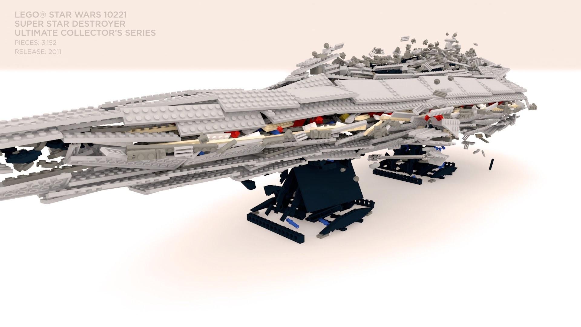 LEGO Star Wars Super Star Destroyer 10221 – Build & Unbuild Slow Motion –  YouTube