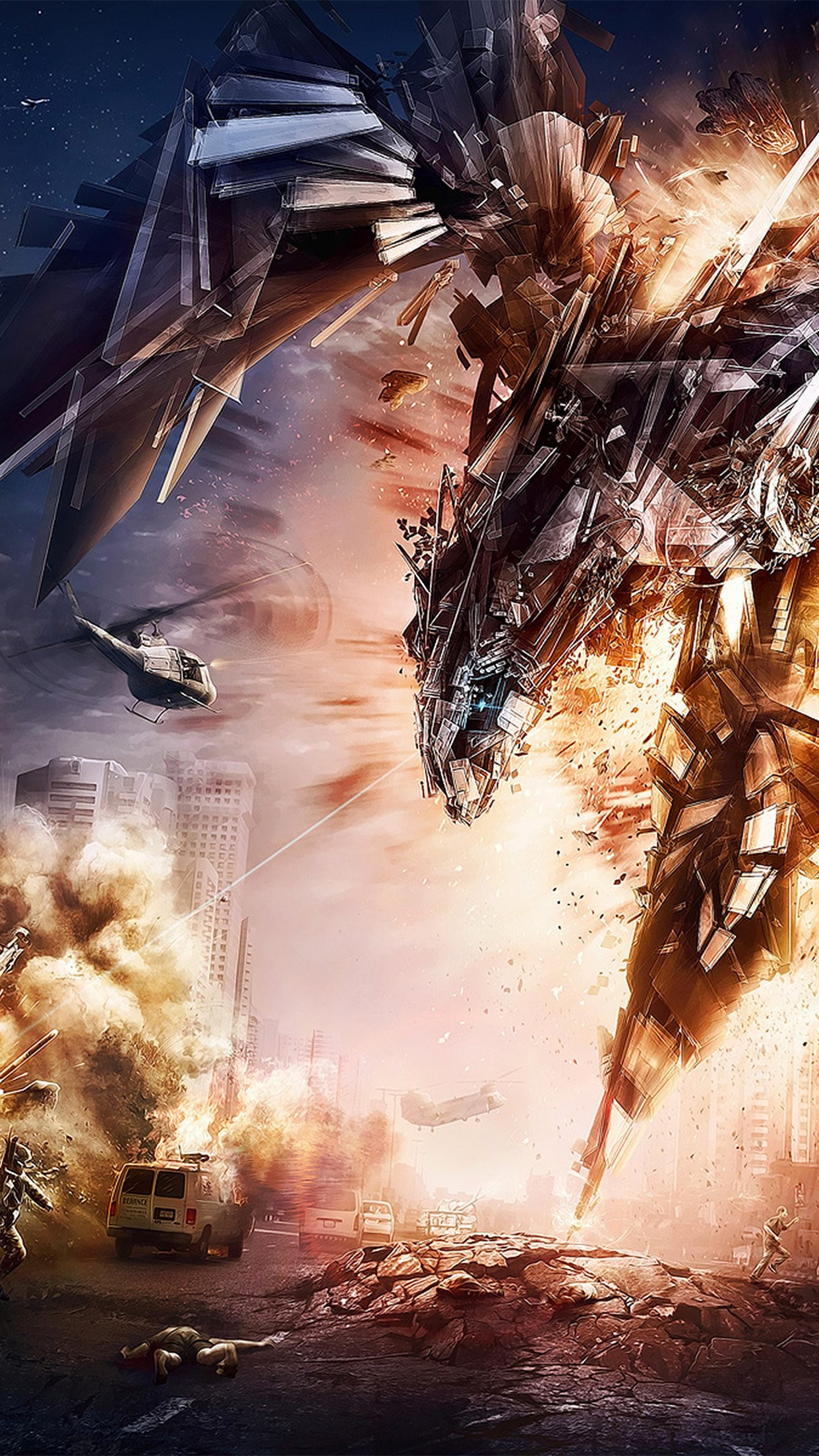Transformers Artwork Film Illustration IPhone 7 Plus Wallpaper