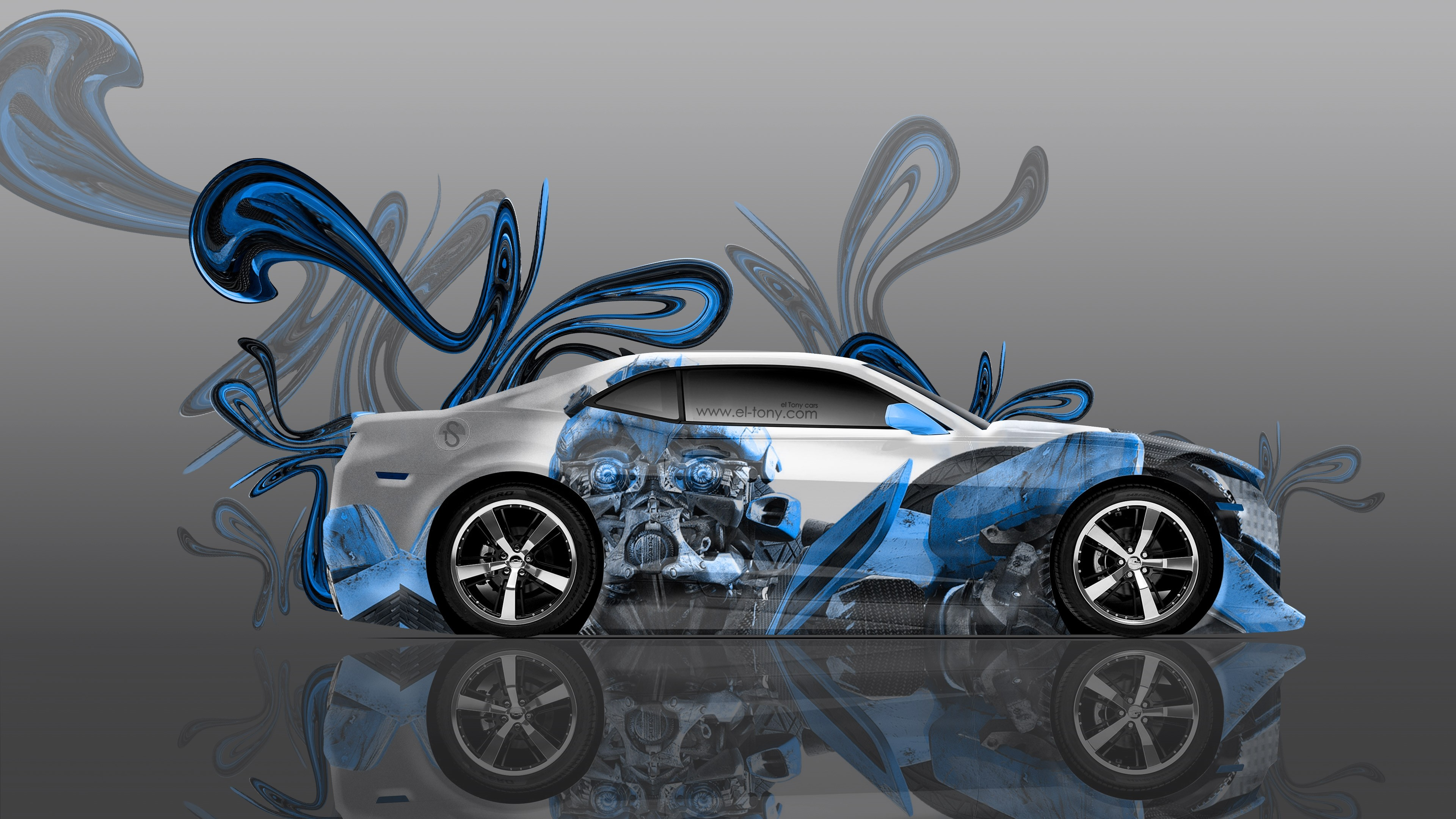 chevrolet camaro bumblebee transformer car blue color