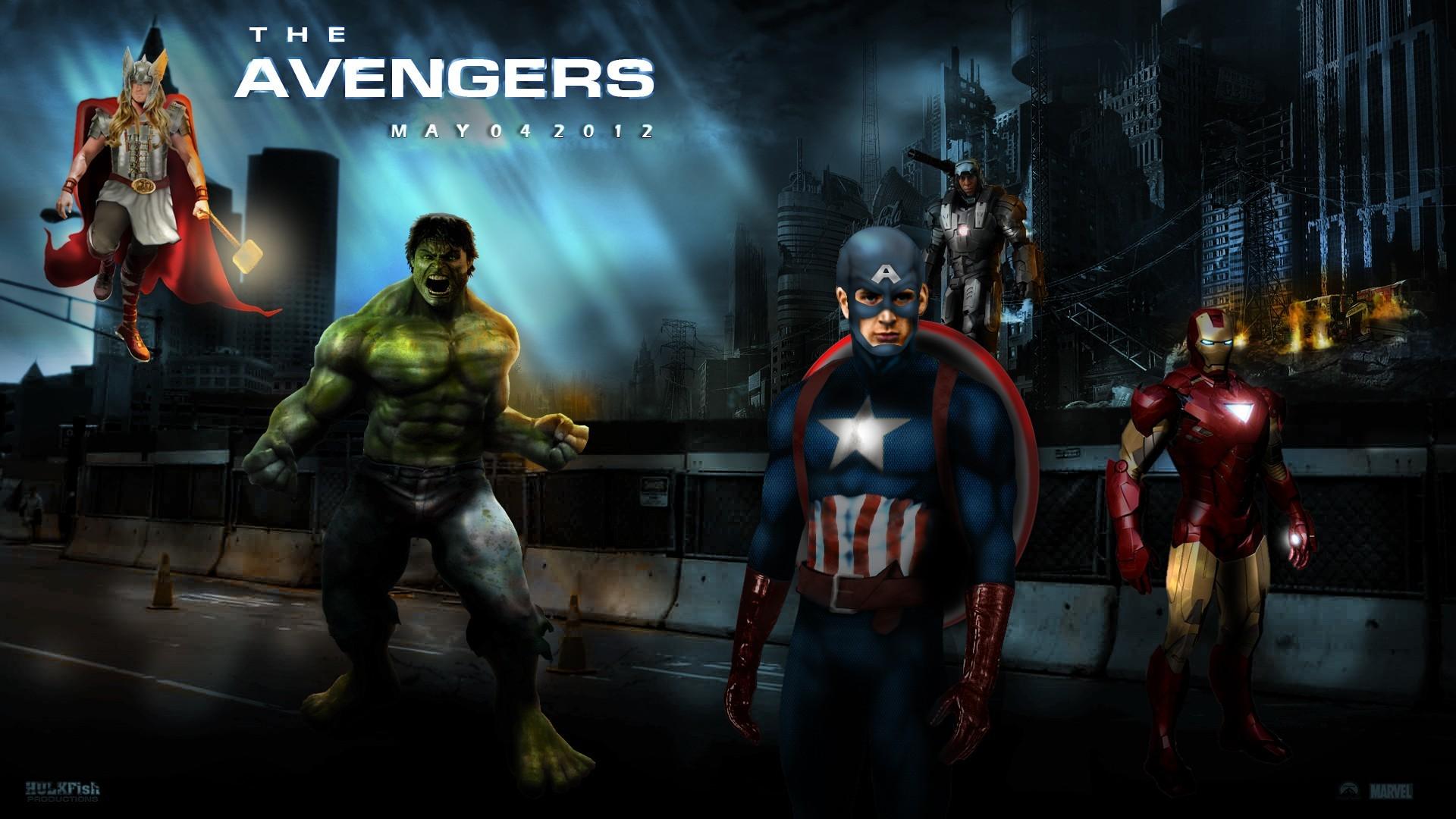 Movie – The Avengers Thor Hulk Captain America Iron Man Avengers War  Machine Wallpaper