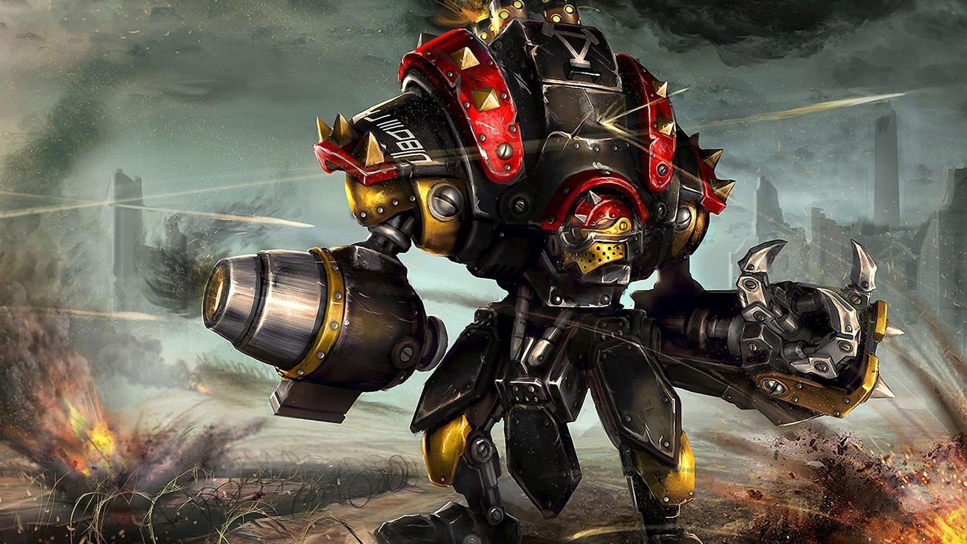 Robots Mechs Artwork Fantasy Art War Destruction Concept Warmachine