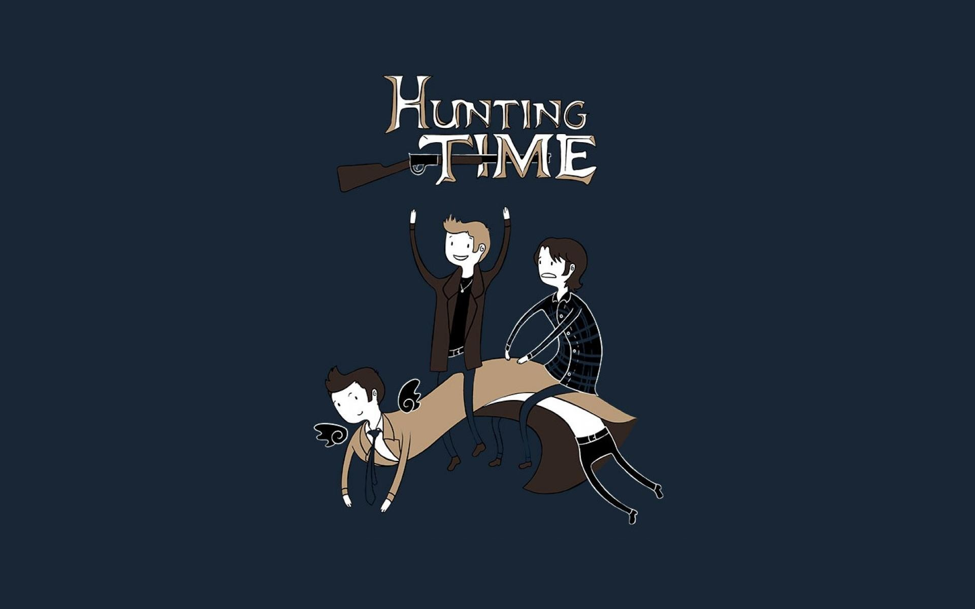 Supernatural funny adventure time fun art hunting wallpaper   (388)