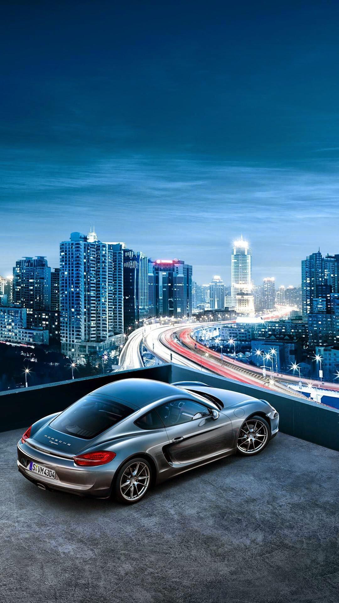 Porsche Cayman City View iPhone 6 Plus HD Wallpaper – Top 10 Cars iPhone  Wallpapers